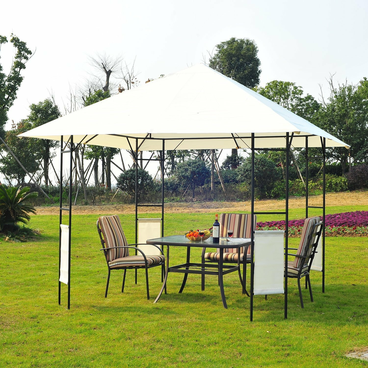 Steel Portable Gazebo : Outsunny ft w d metal portable gazebo