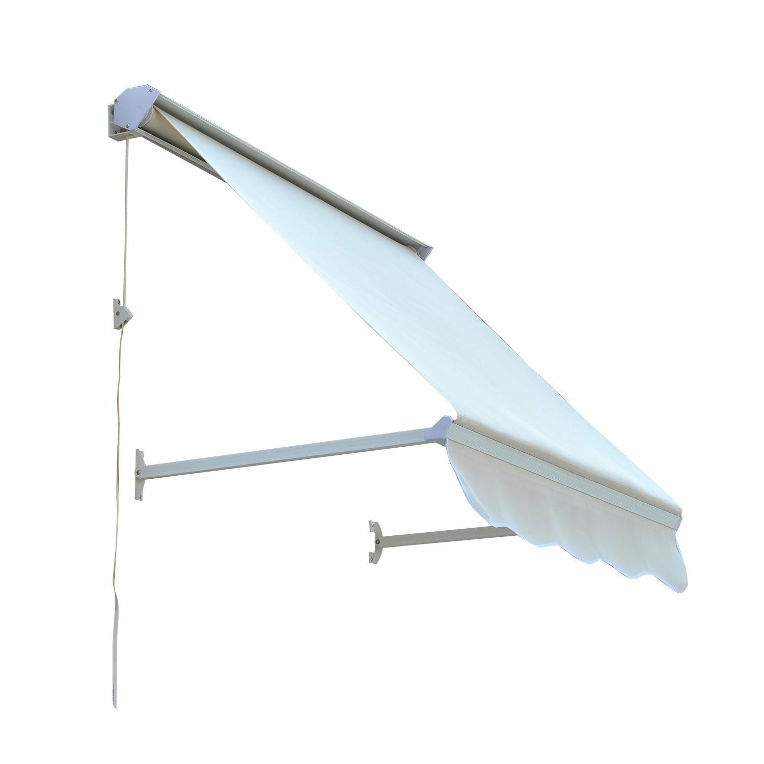 Outsunny Window Retractable Canopy Sun Shade Shelter 4ft ...