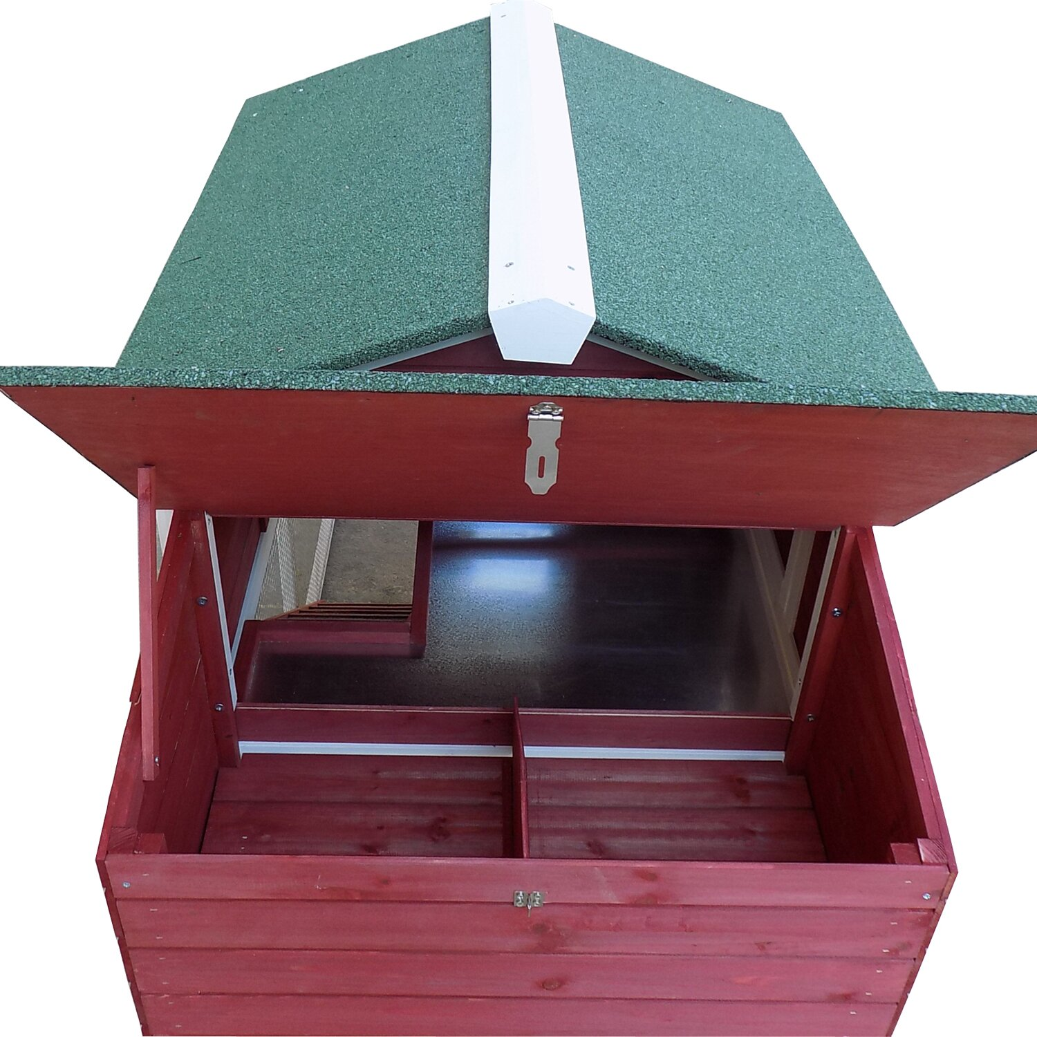 Glass Nesting Boxes : Pawhut farmhouse chicken coop with run area and nesting