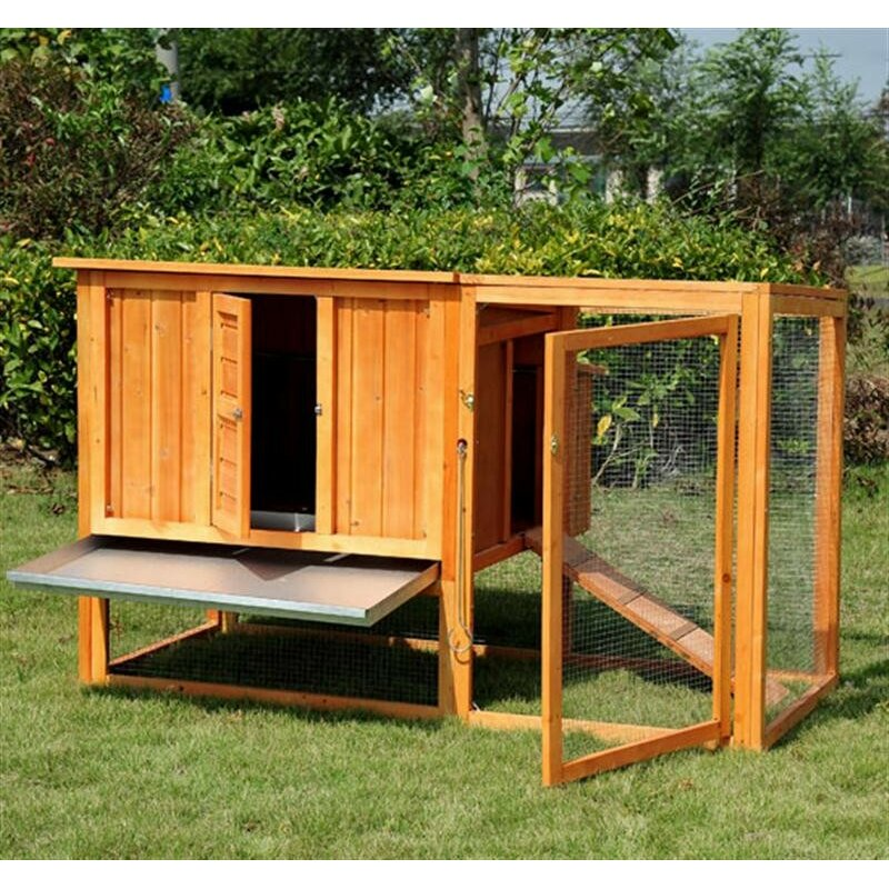 Glass Nesting Boxes : Pawhut chicken coop hen house with nesting box and outdoor