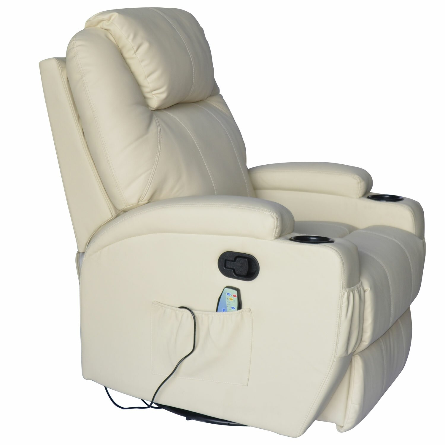 Outsunny Hom Deluxe Heated Vibrating PU Leather Massage