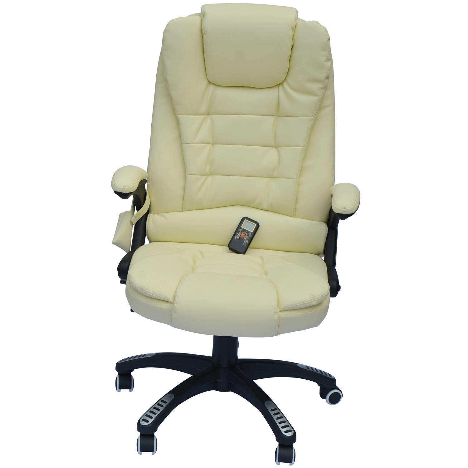 Hom Hom Faux Leather Heated Massage Chair & Reviews