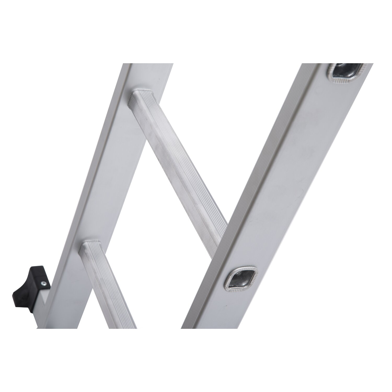 Homcom 15 5 Ft Aluminum Extension Ladder Amp Reviews Wayfair
