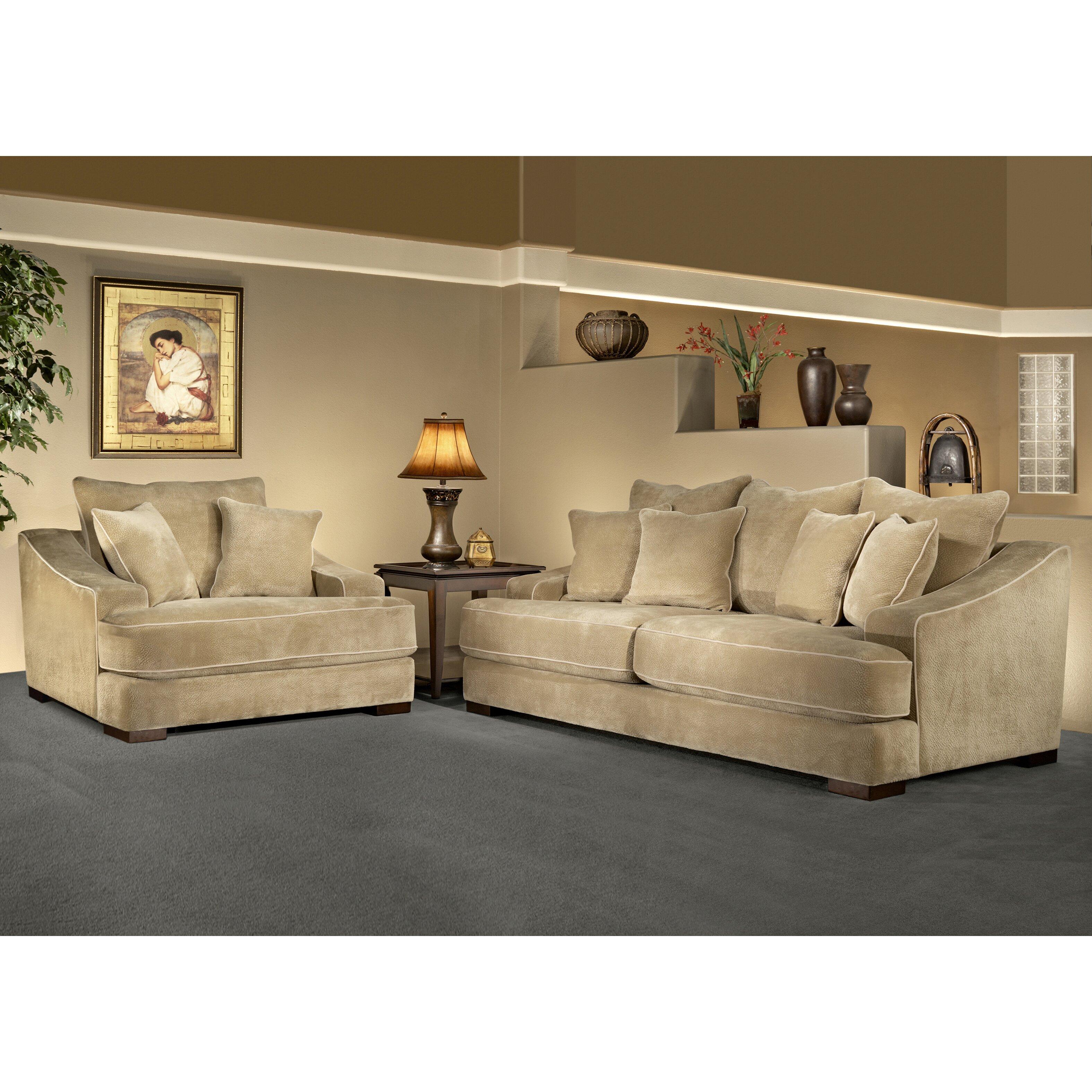 Sage avenue cameron 2 piece sofa set reviews wayfair for 2 piece sofa set