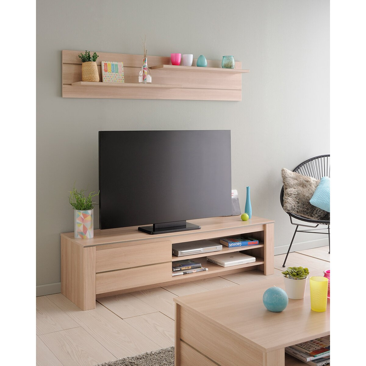 parisot nolita wall shelf reviews wayfair. Black Bedroom Furniture Sets. Home Design Ideas