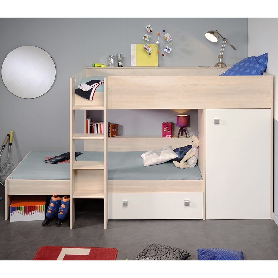 Parisot Ninety Twin Over Twin Bunk Bed with Trundle