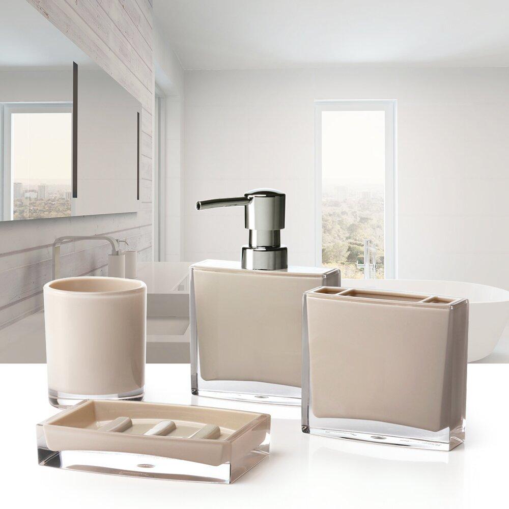 Immanuel Iced Anya 4 Piece Bathroom Accessory Set