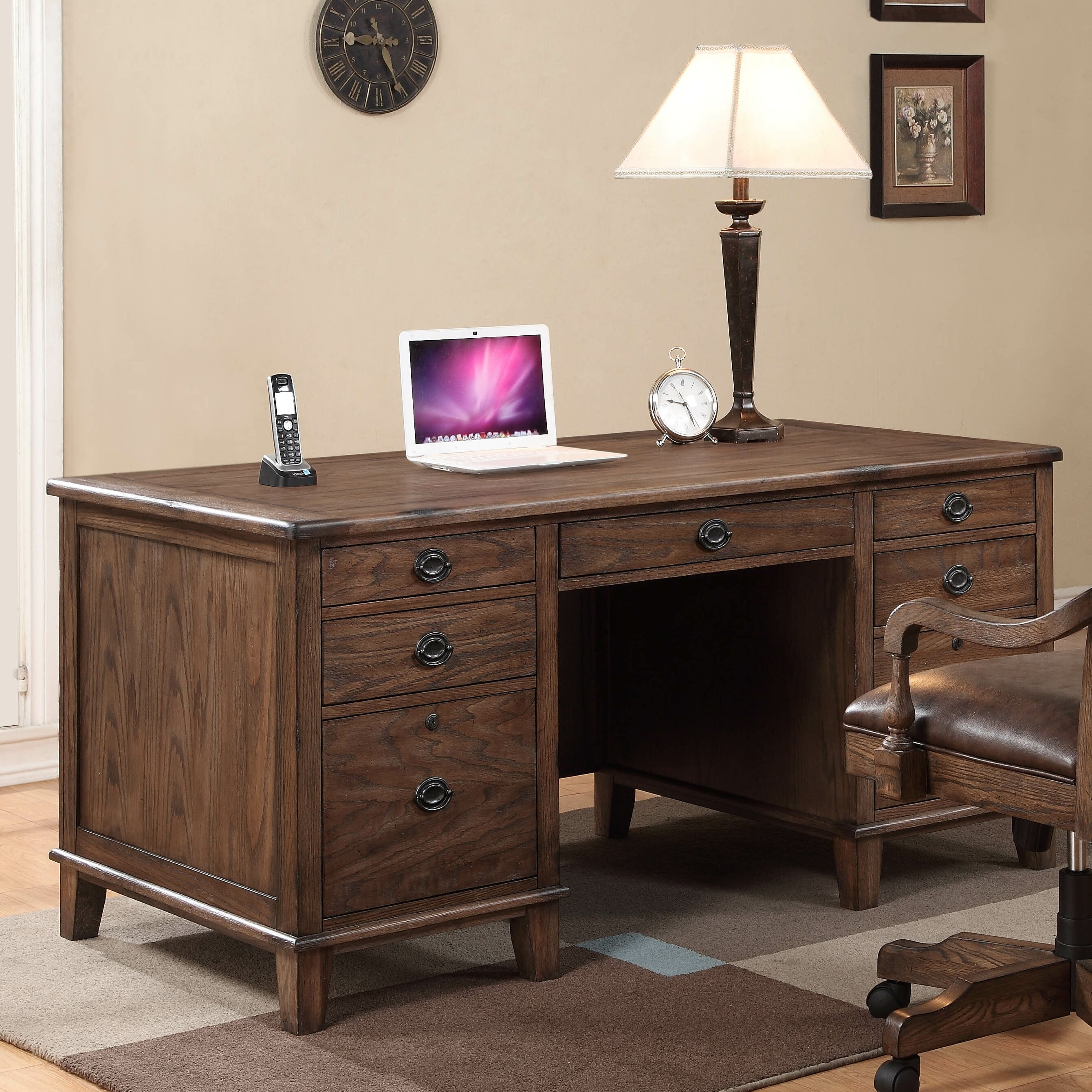 Fairfax Home Collections Harrison Flats Executive Desk