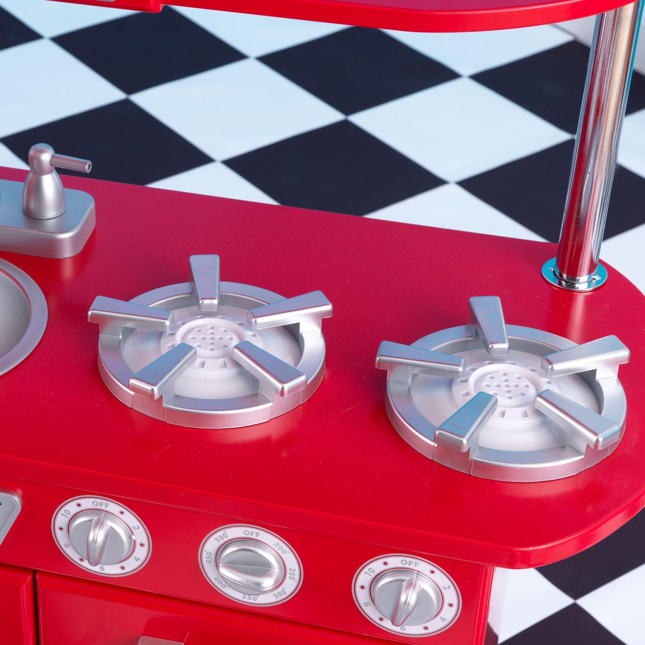 KidKraft Personalized Red Vintage Kitchen & Reviews