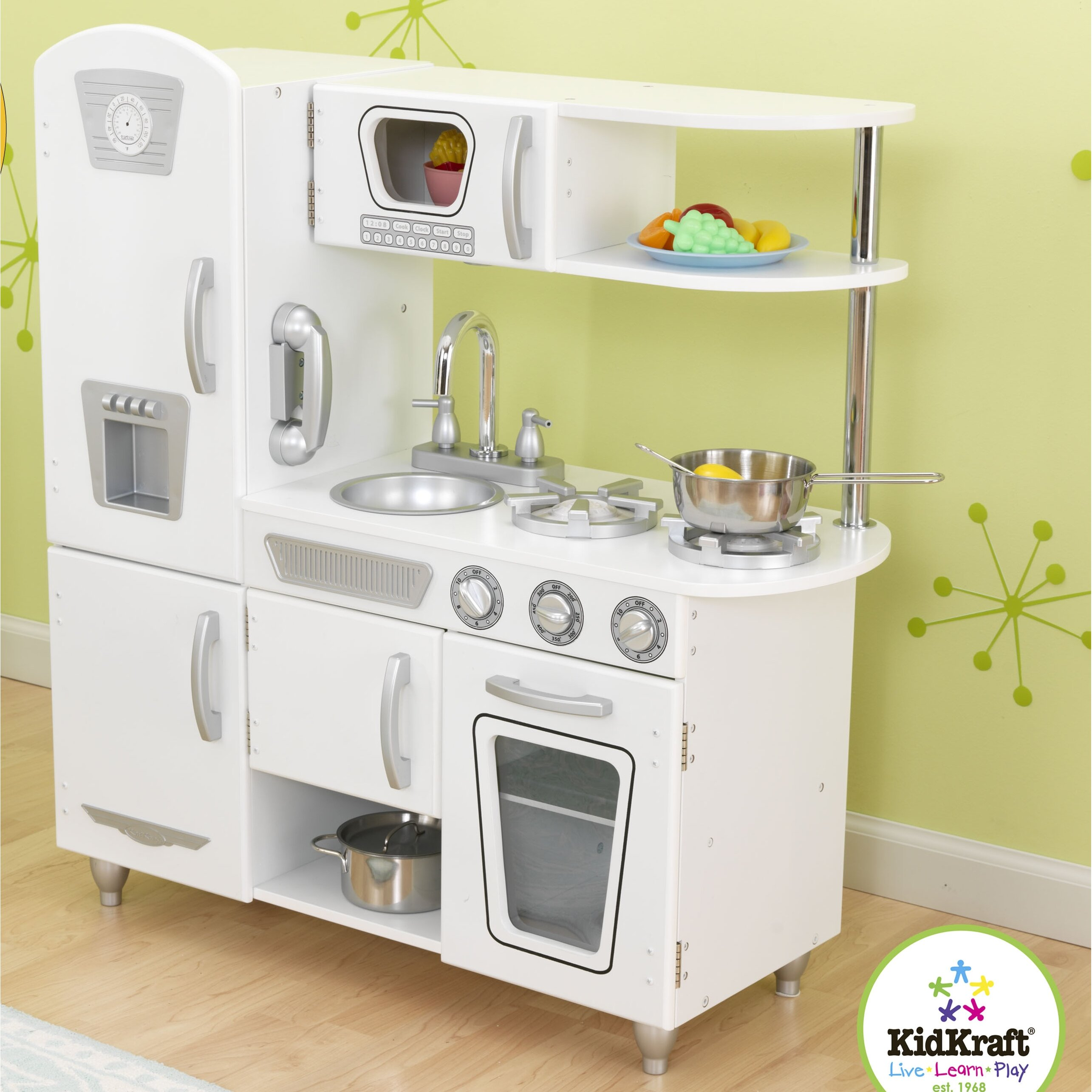 kidkraft vintage kitchen & reviews | wayfair