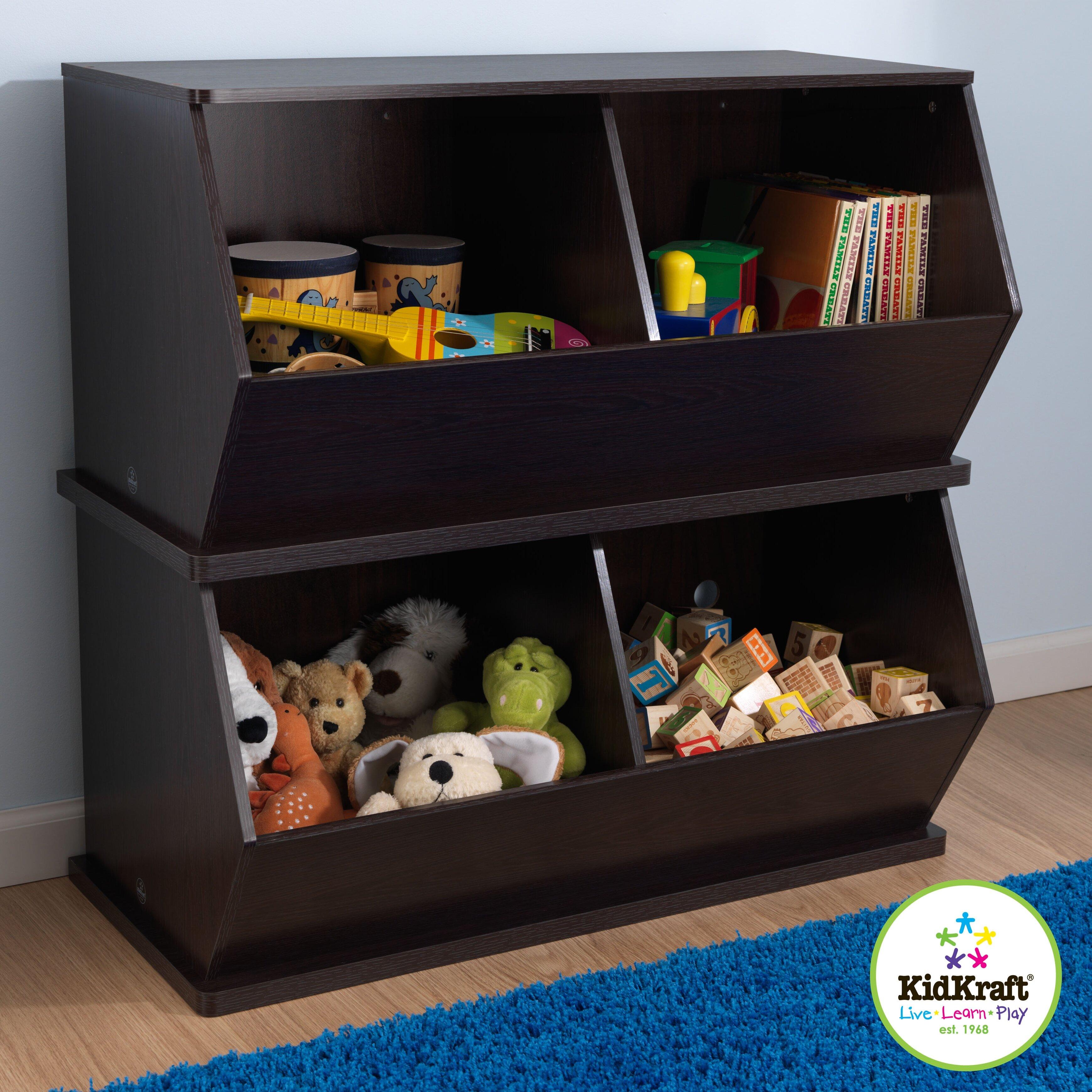 Childrens Kids 3 Tier Toy Bedroom Storage Shelf Unit 8: KidKraft Double Storage Unit & Reviews