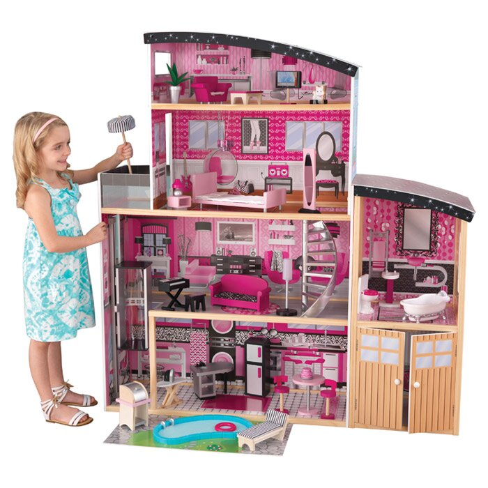 barbie house setting games kidkraft sparkle mansion dollhouse amp reviews wayfair 10421