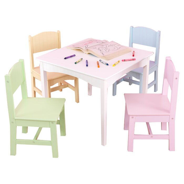 KidKraft Nantucket Kids 5 Piece Table & Chair Set