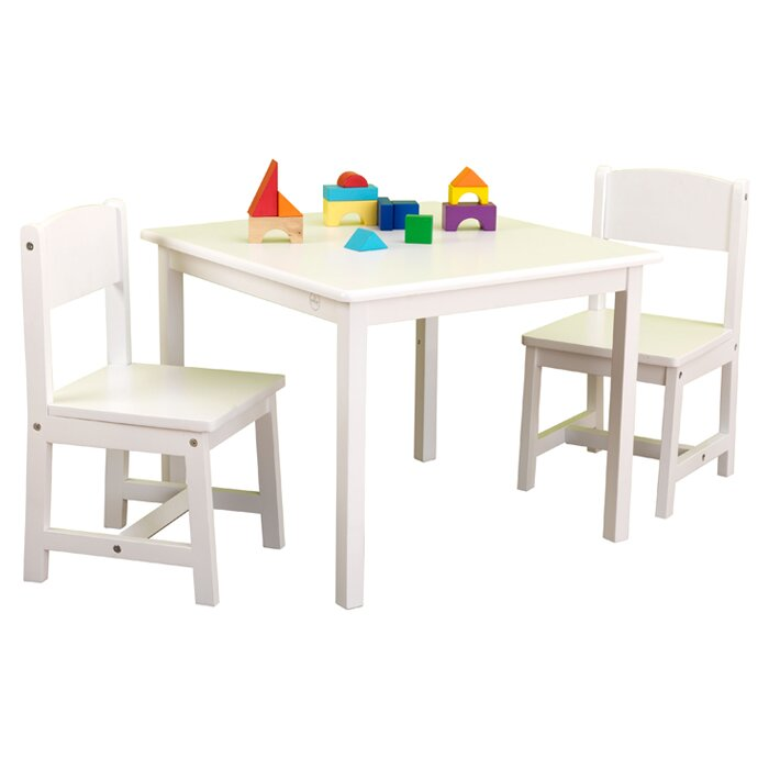 Kidkraft aspen kids 3 piece table and chair set reviews for Table kidkraft
