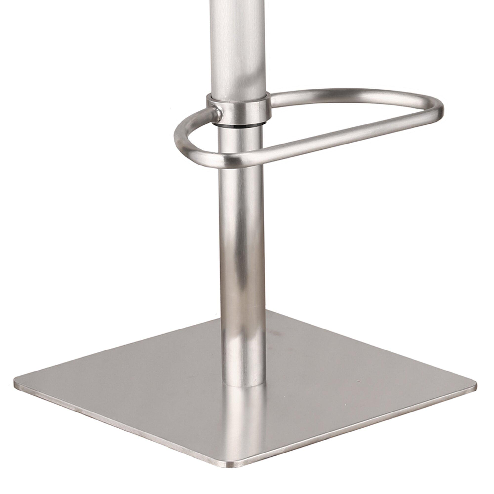 Armen Living Delmar Adjustable Height Swivel Bar Stool