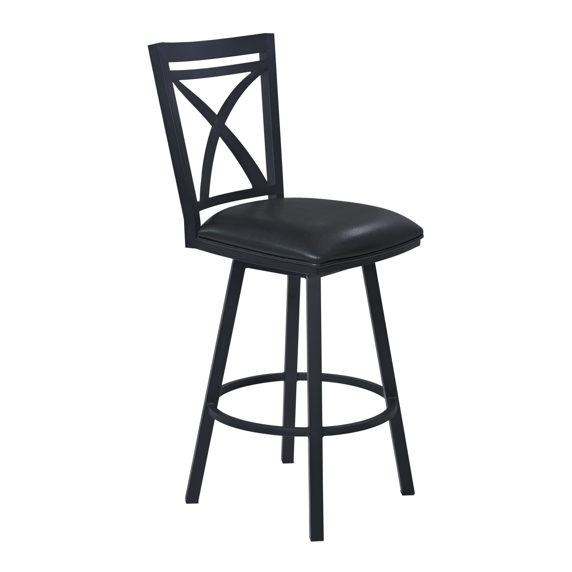 Armen Living Nova 26 Quot Swivel Bar Stool With Cushion Wayfair