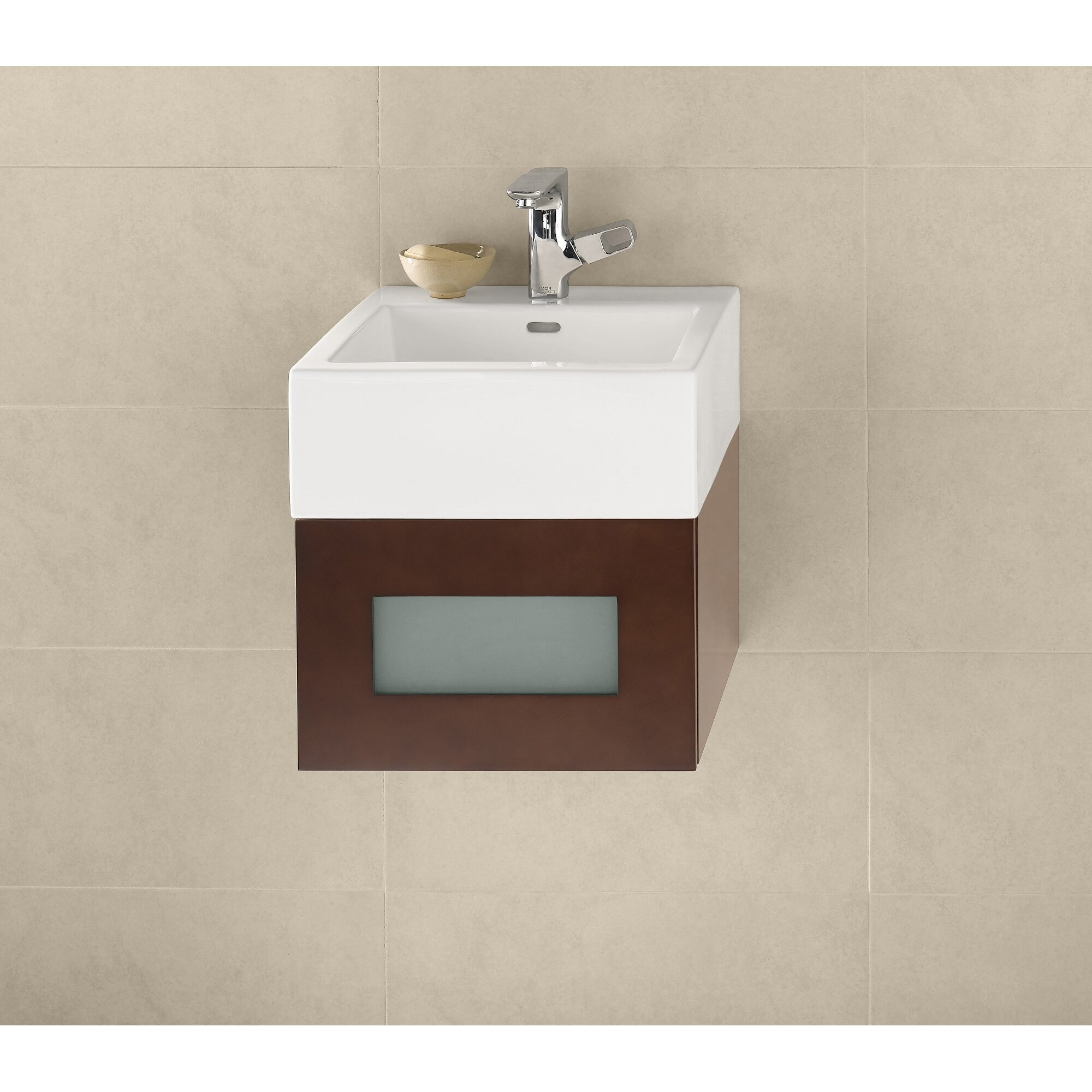 Ronbow Ceramic Square Vessel Bathroom Sink with Overflow & Reviews ...