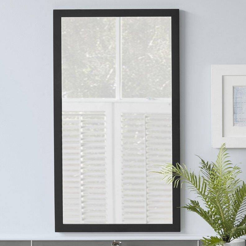 Ronbow Contemporary Solid Wood Framed Bathroom Mirror Reviews Wayfair