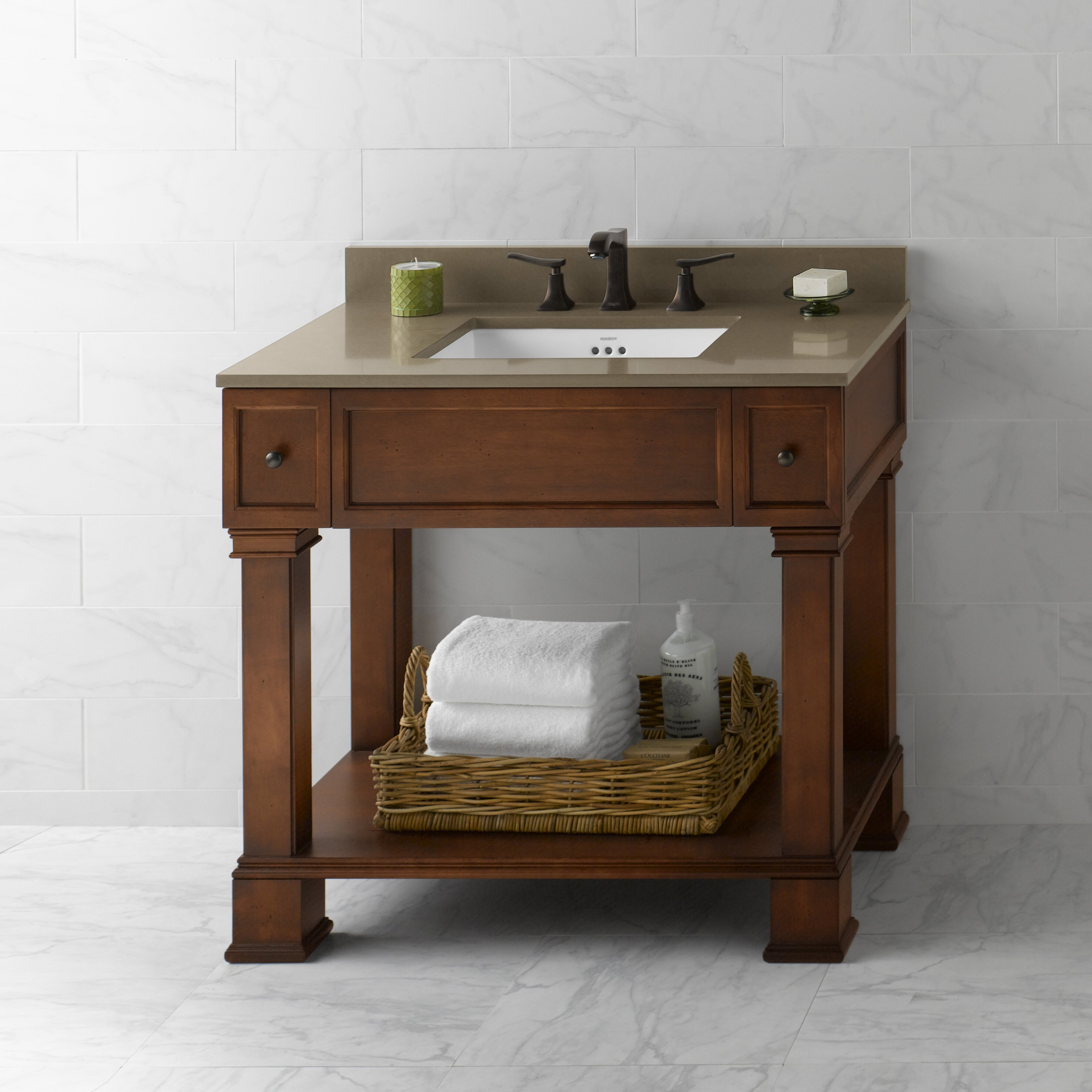 ronbow palermo 36 quot single bathroom vanity set reviews wayfair