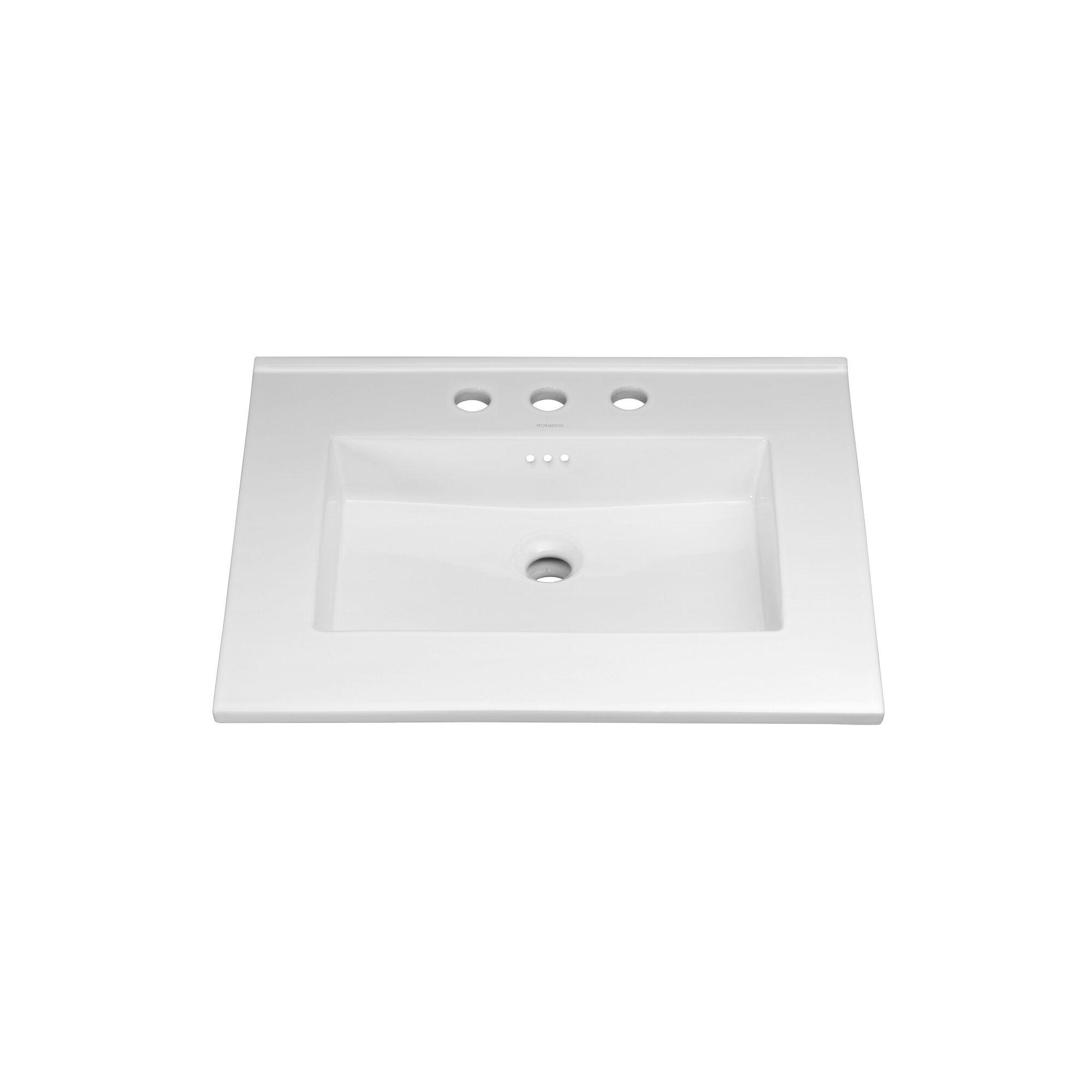 Ronbow 24 Ceramic Sink Vanity Top With Overflow Reviews Wayfair
