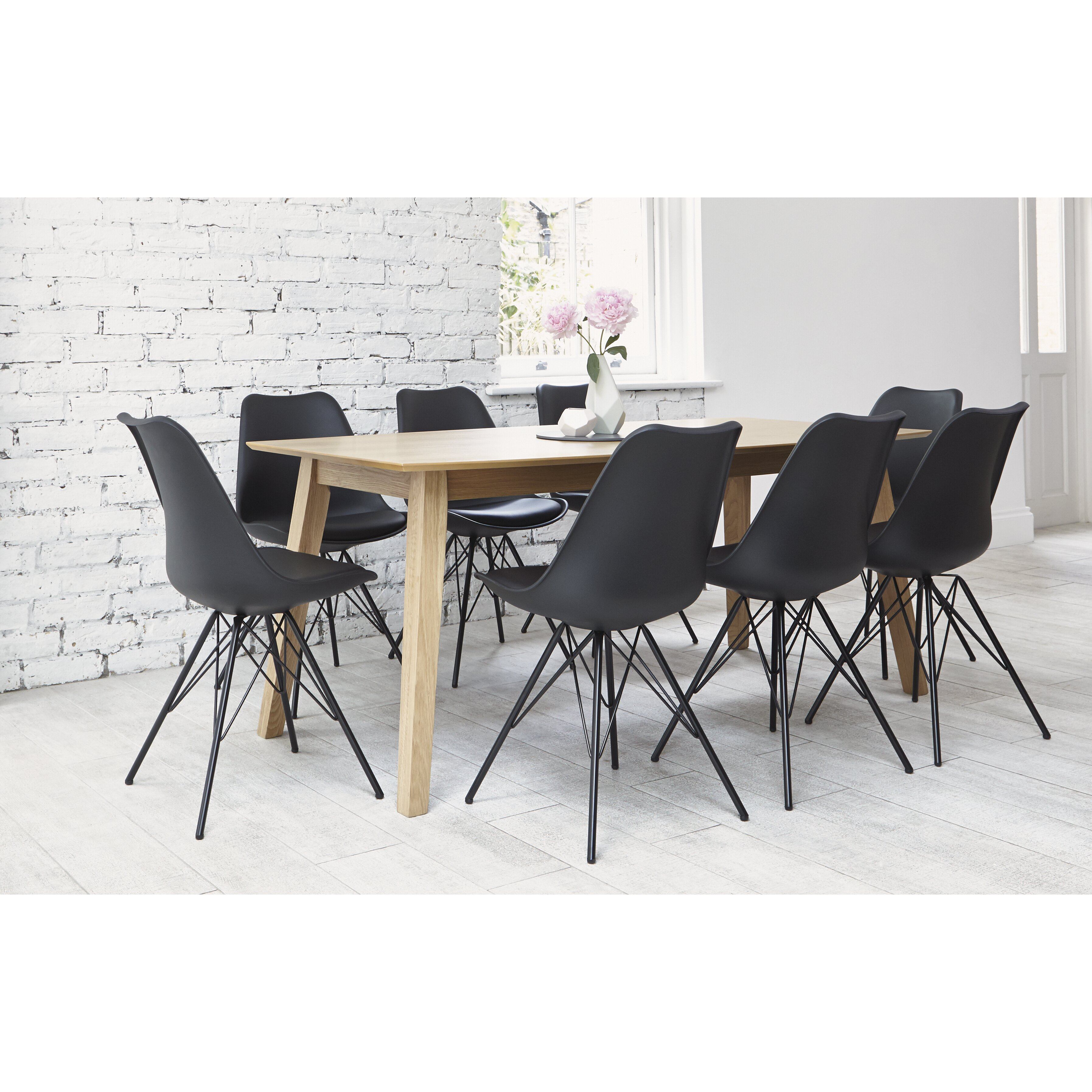 Outandoutoriginal indiana dining table and 8 chairs for Wayfair furniture dining tables