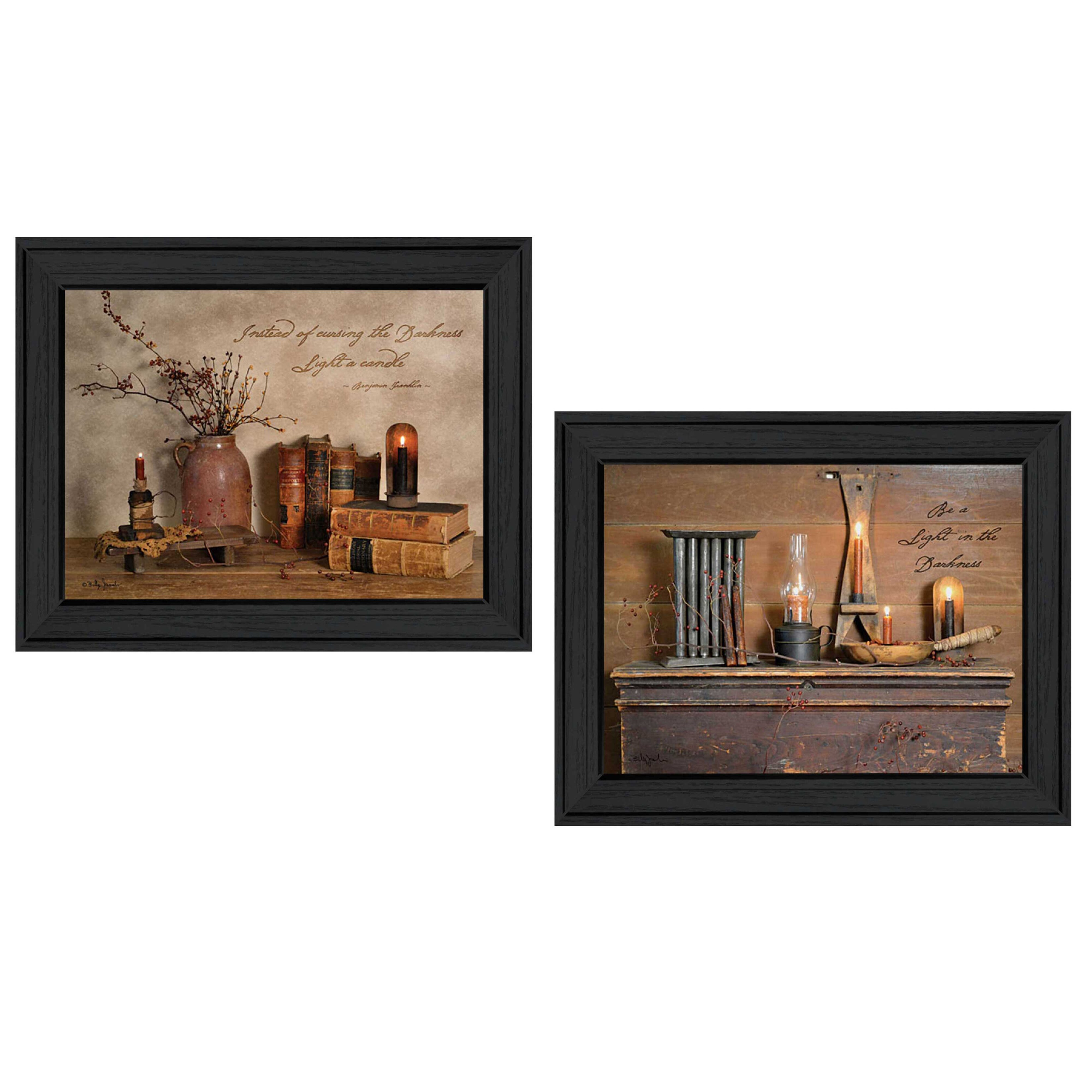 Trendy decor 4u 39 candles 39 by billy jacobs 2 piece framed for Home decor 4 u