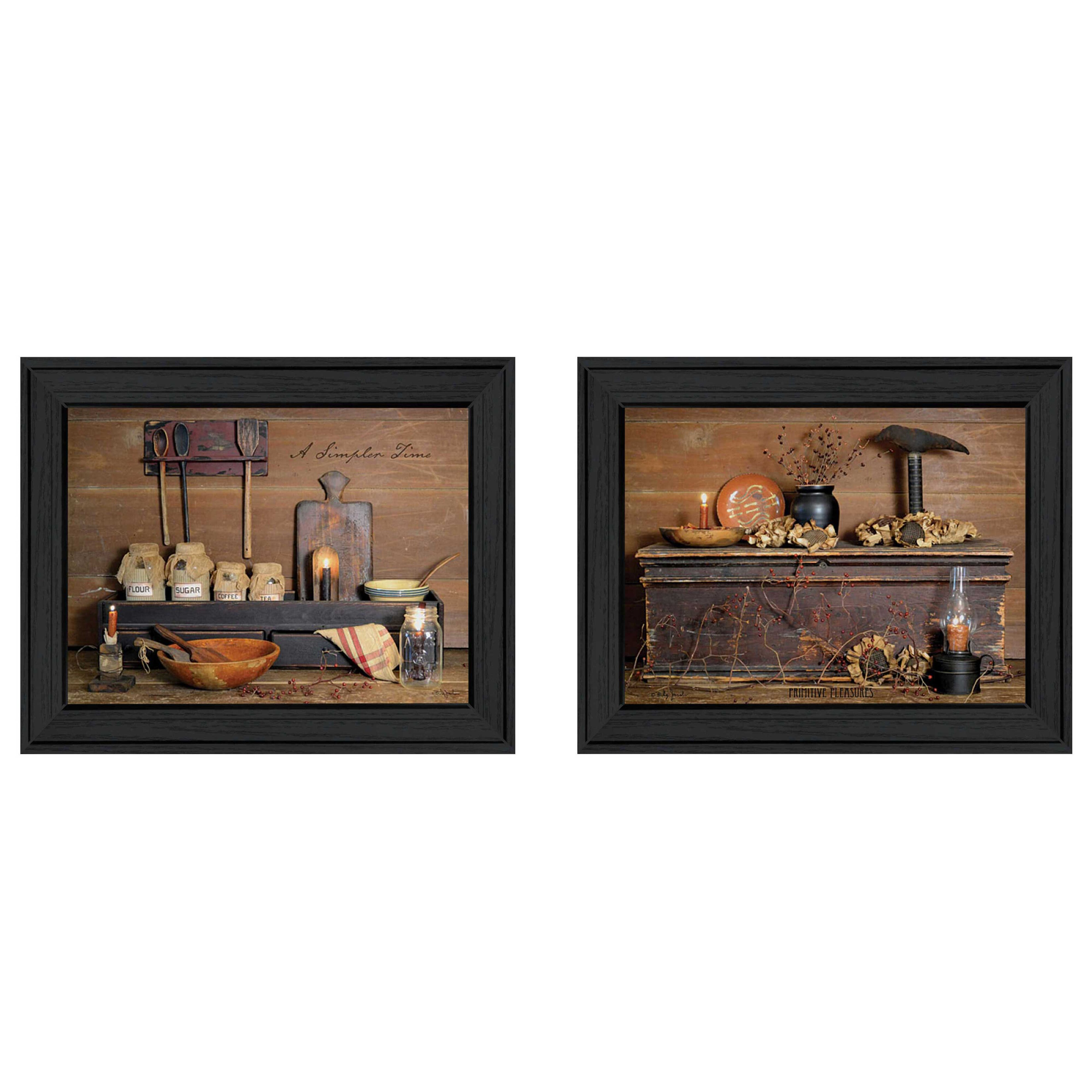 Trendy decor 4u 39 rustic 39 by billy jacobs 2 piece framed for Home decor 4 u
