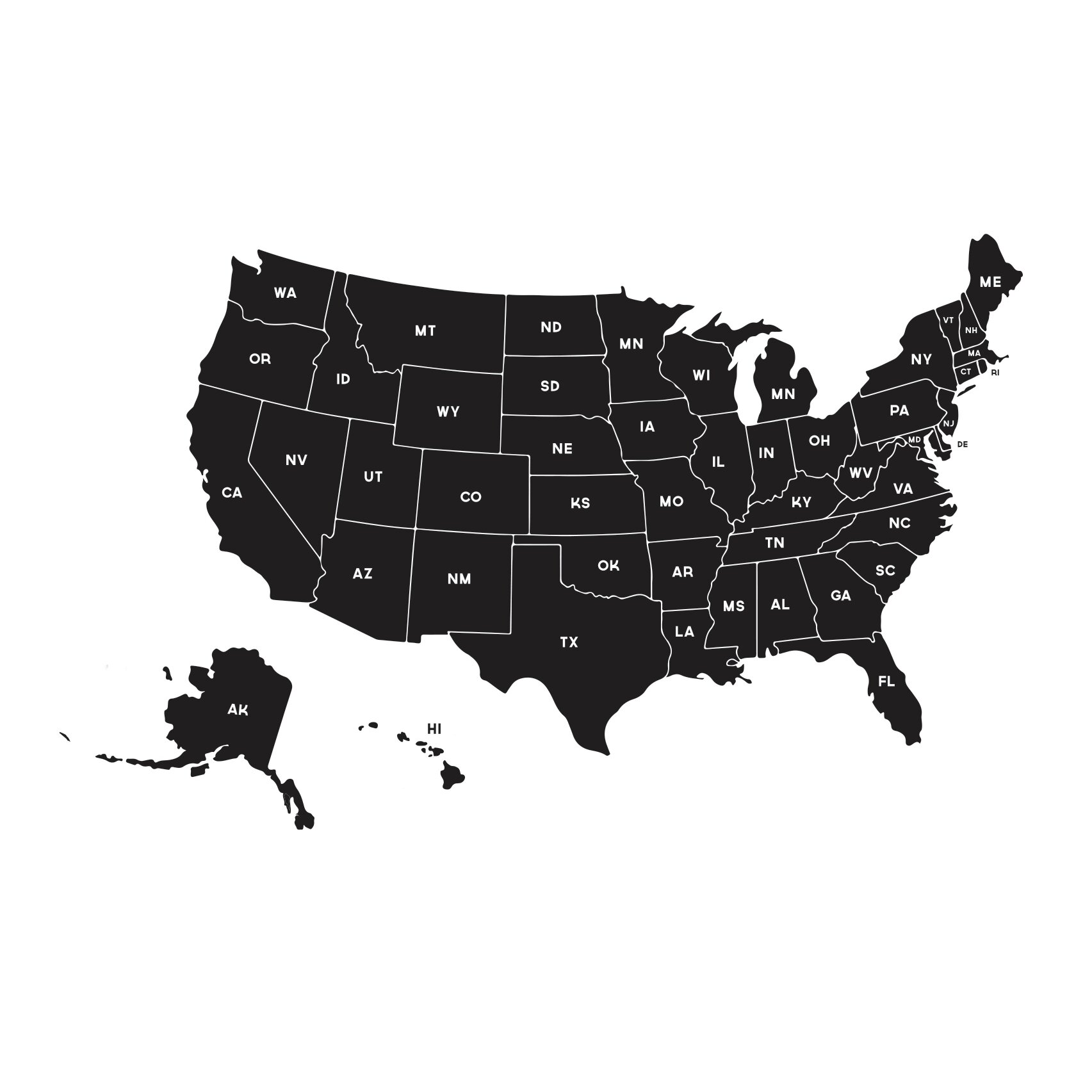 Dana Decals Map of the United States