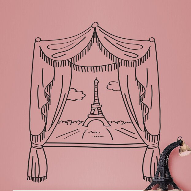 Small Eiffel Tower Wall Decor : Dana decals paris window and eiffel tower doodle