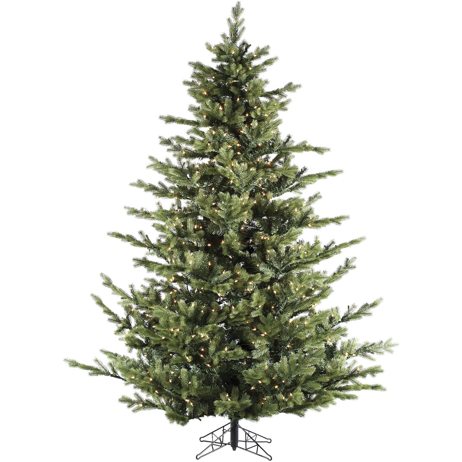 Fraser Hill Farm Foxtail Pine 7 5 Green Artificial Christmas Tree With 900 Led String Multi