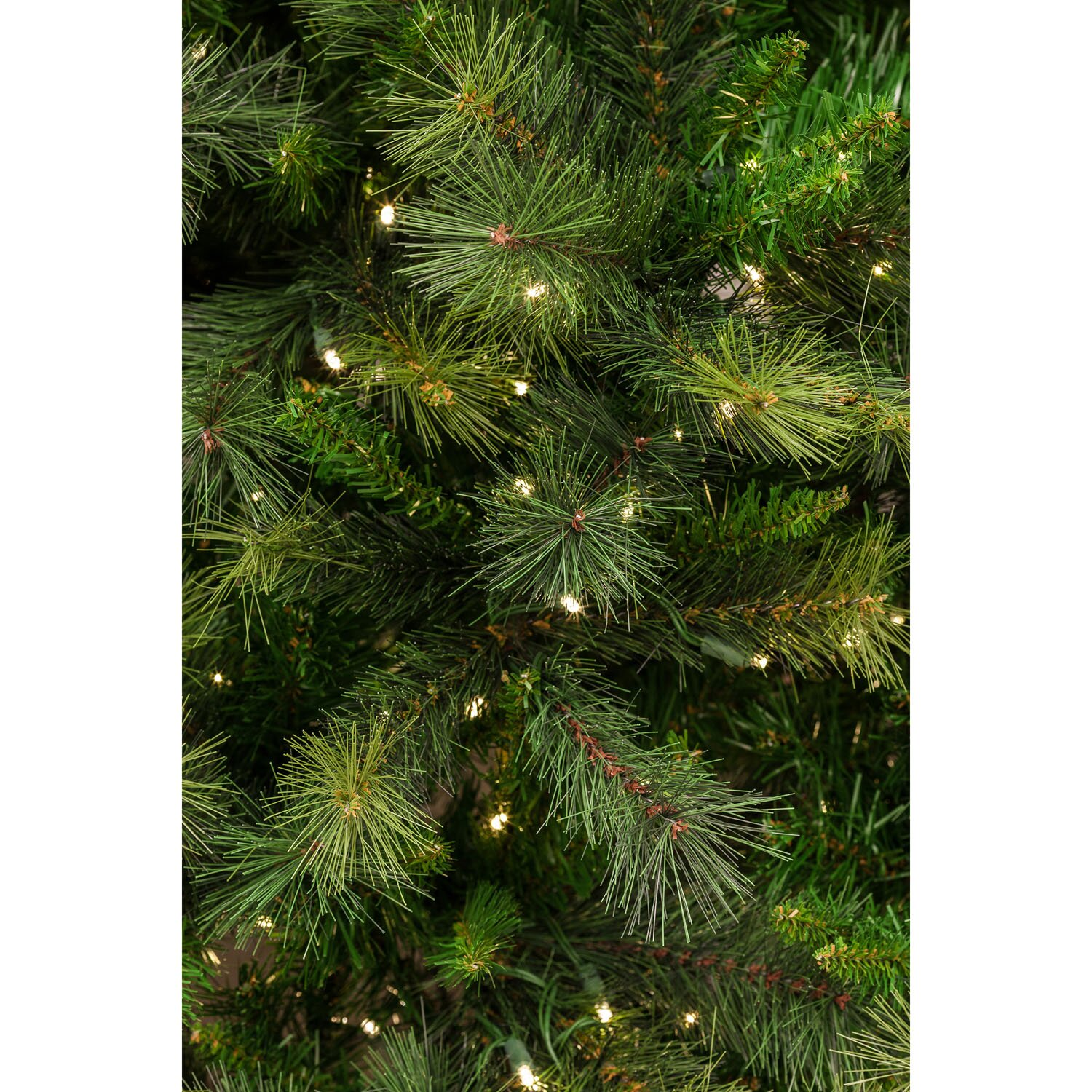 Fraser Hill Farm Canyon Pine 7.5 Green Artificial Christmas Tree with 550 Smart String Lights ...