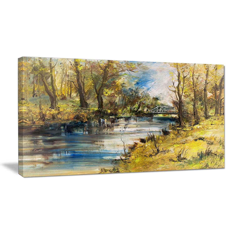 designart 39 bridge over river oil painting 39 painting print