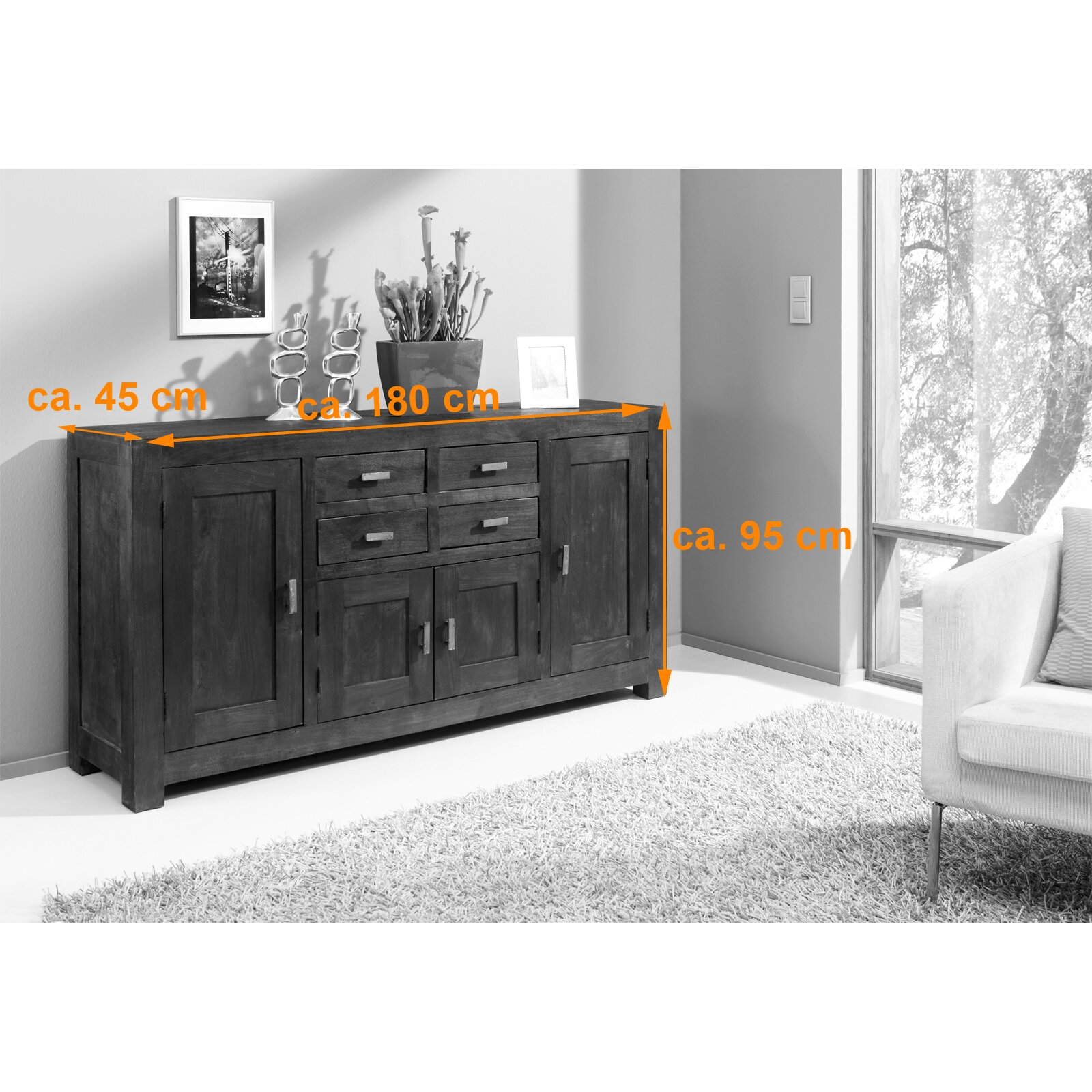 sam stil art m bel gmbh sideboard tigris. Black Bedroom Furniture Sets. Home Design Ideas