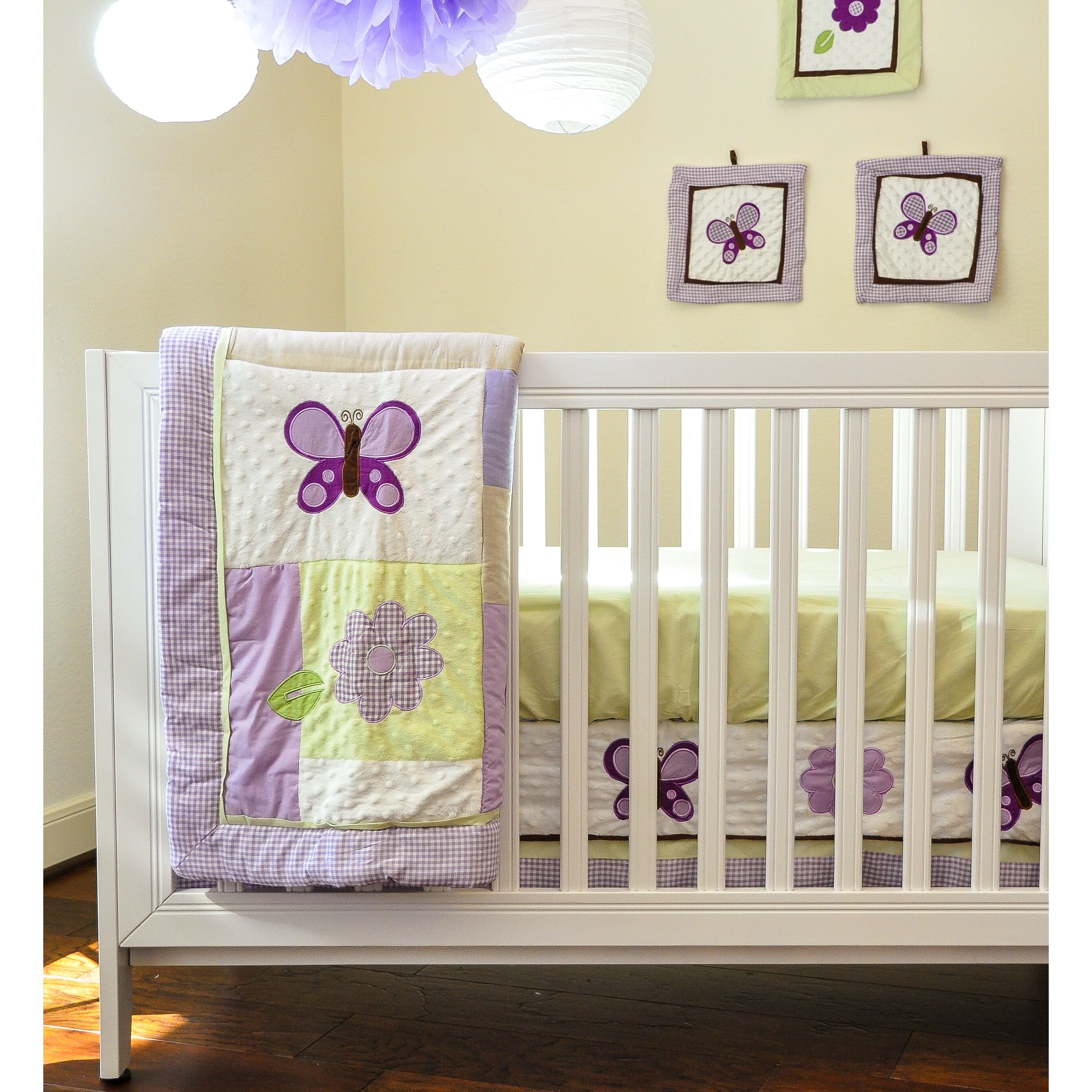 Pam Grace Creations Lavender Butterfly 10 Piece Crib