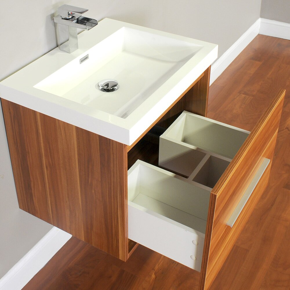 Alya bath ripley 24 single wall mount modern bathroom for Modern bathroom vanity mirror