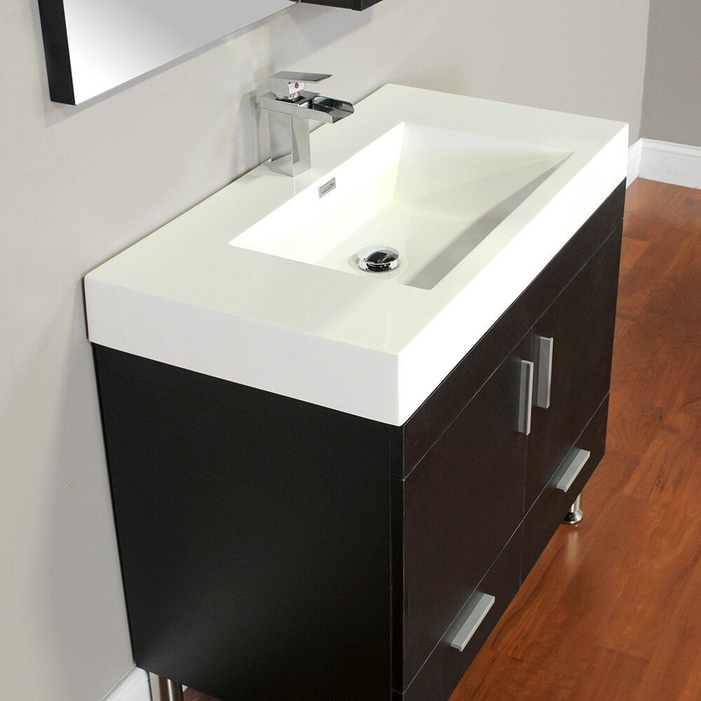 Alya Bath Ripley 36 Single Modern Bathroom Vanity Set With Mirror