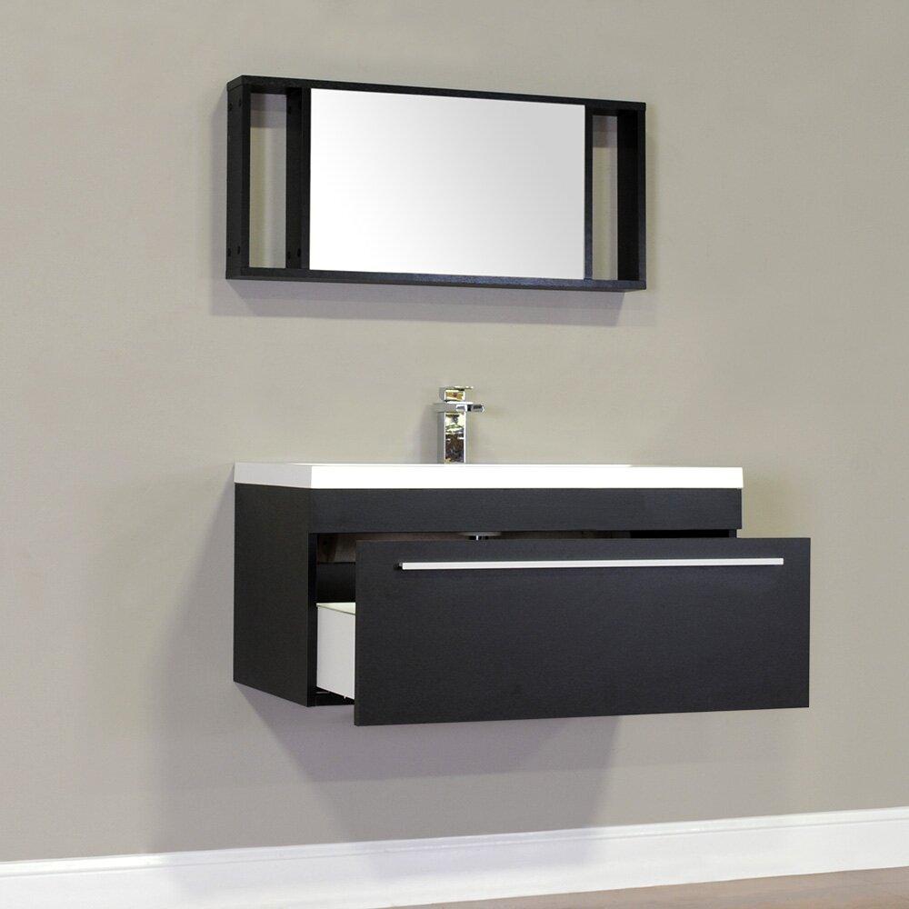 Alya bath ripley 36 single wall mount modern bathroom for Bath and vanity set