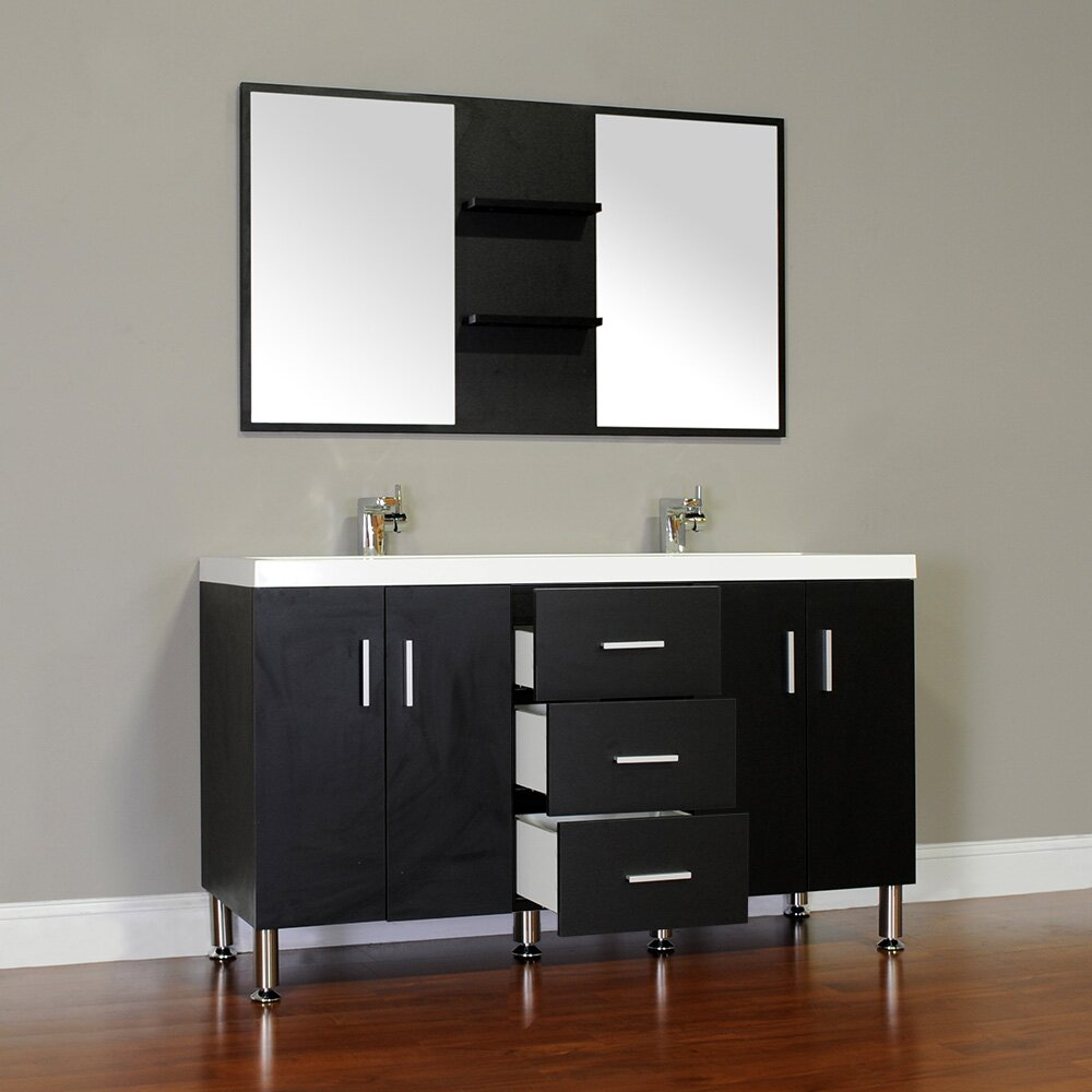 Alya Bath Ripley 56 Double Modern Bathroom Vanity Set