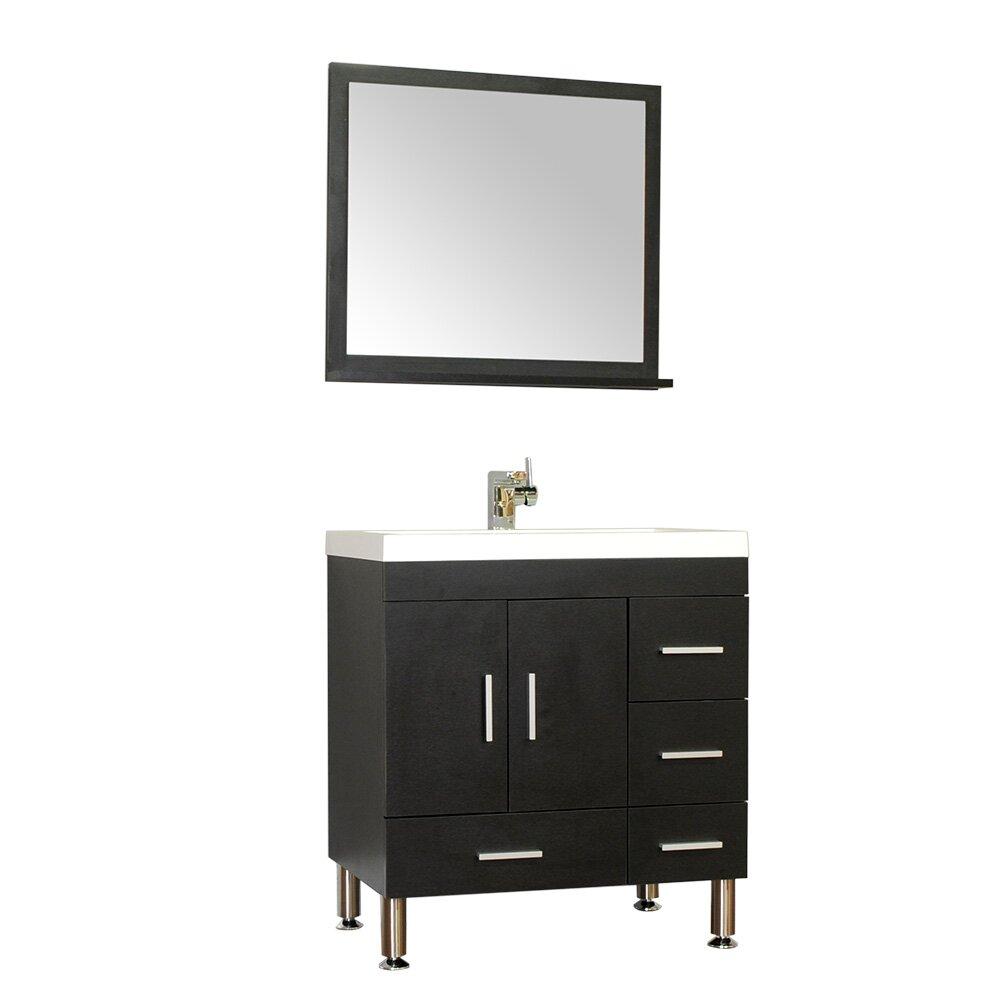 Alya Bath Ripley 30 Single Modern Bathroom Vanity Set With Mirror Reviews Wayfair
