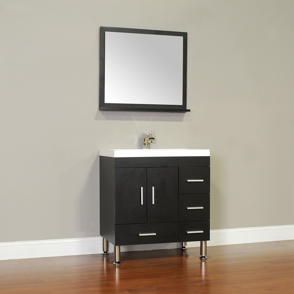 Alya Bath Ripley 30 Single Modern Bathroom Vanity Set With Mirror Reviews Wayfair