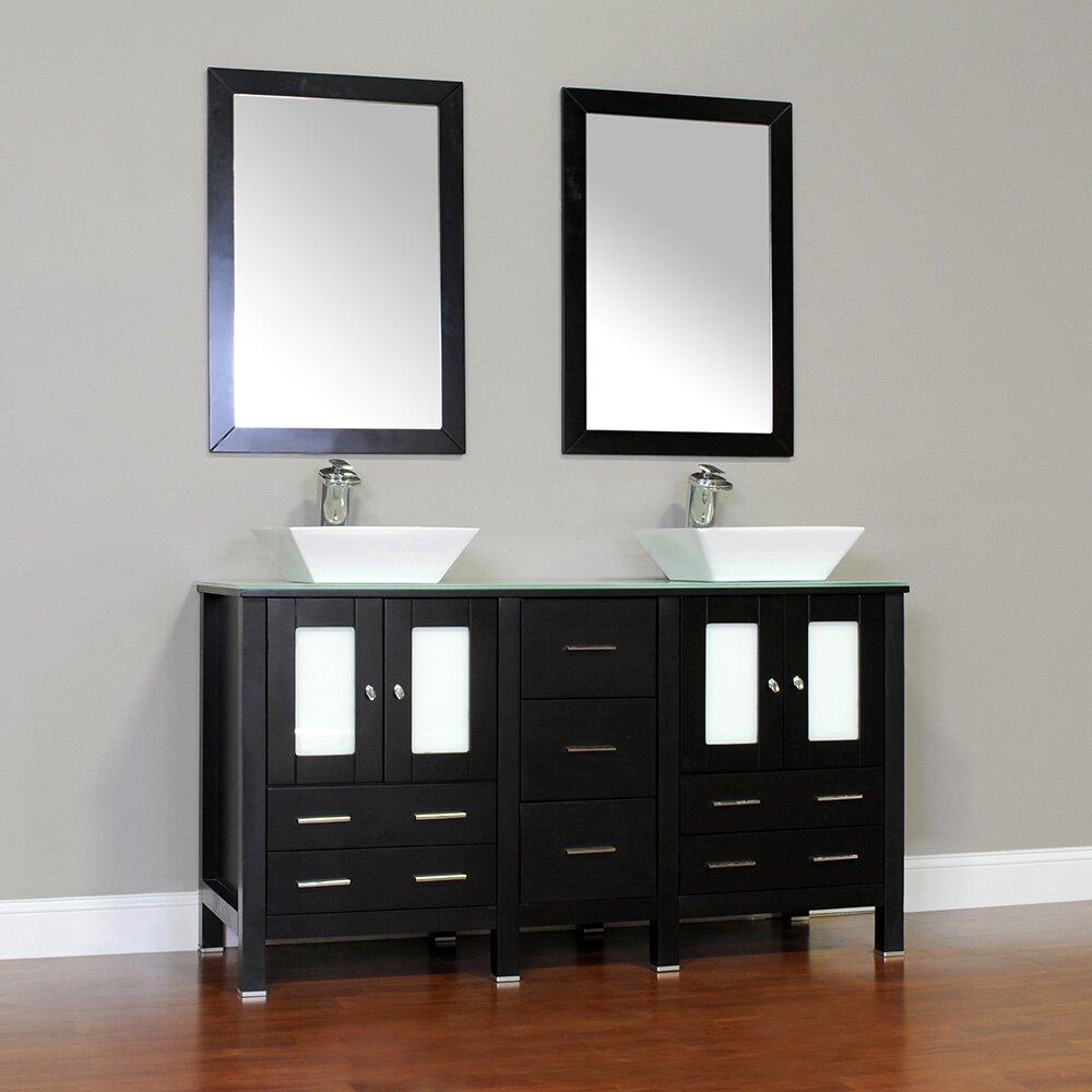 Alya Bath Leeds 60 Double Modern Bathroom Vanity Set Wayfair