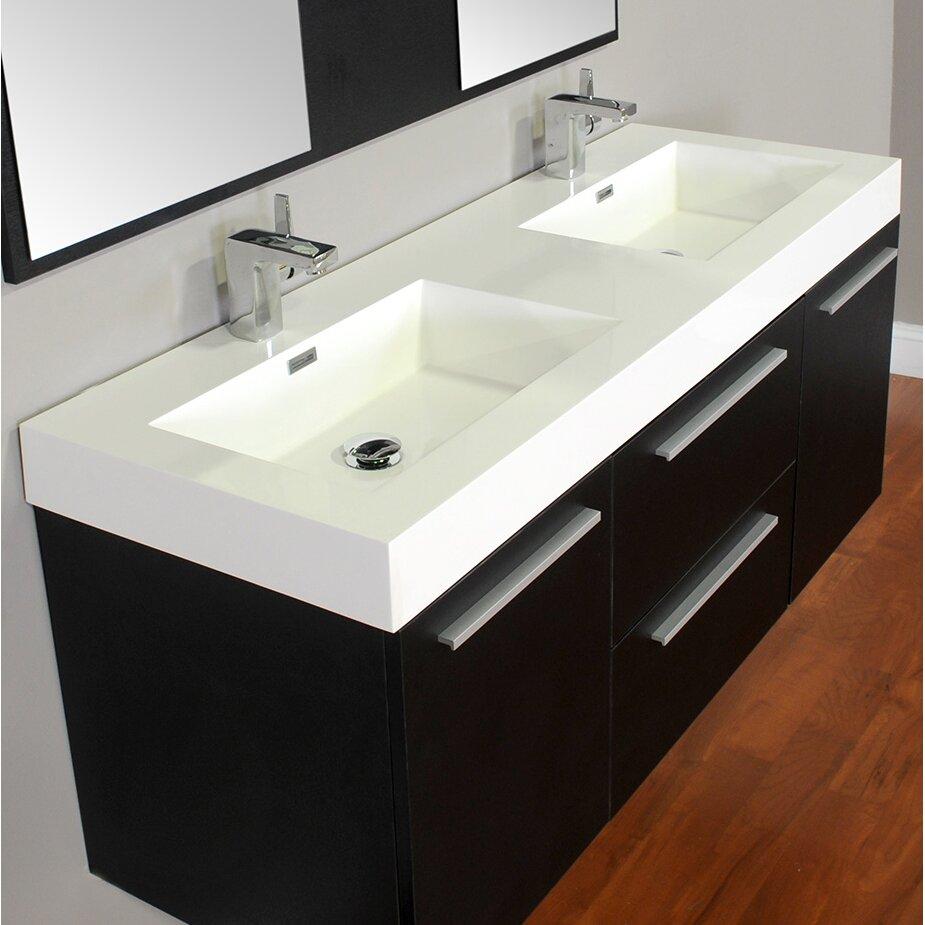 Alya Bath Ripley 54 Double Wall Mount Modern Bathroom Vanity Set Reviews Wayfair