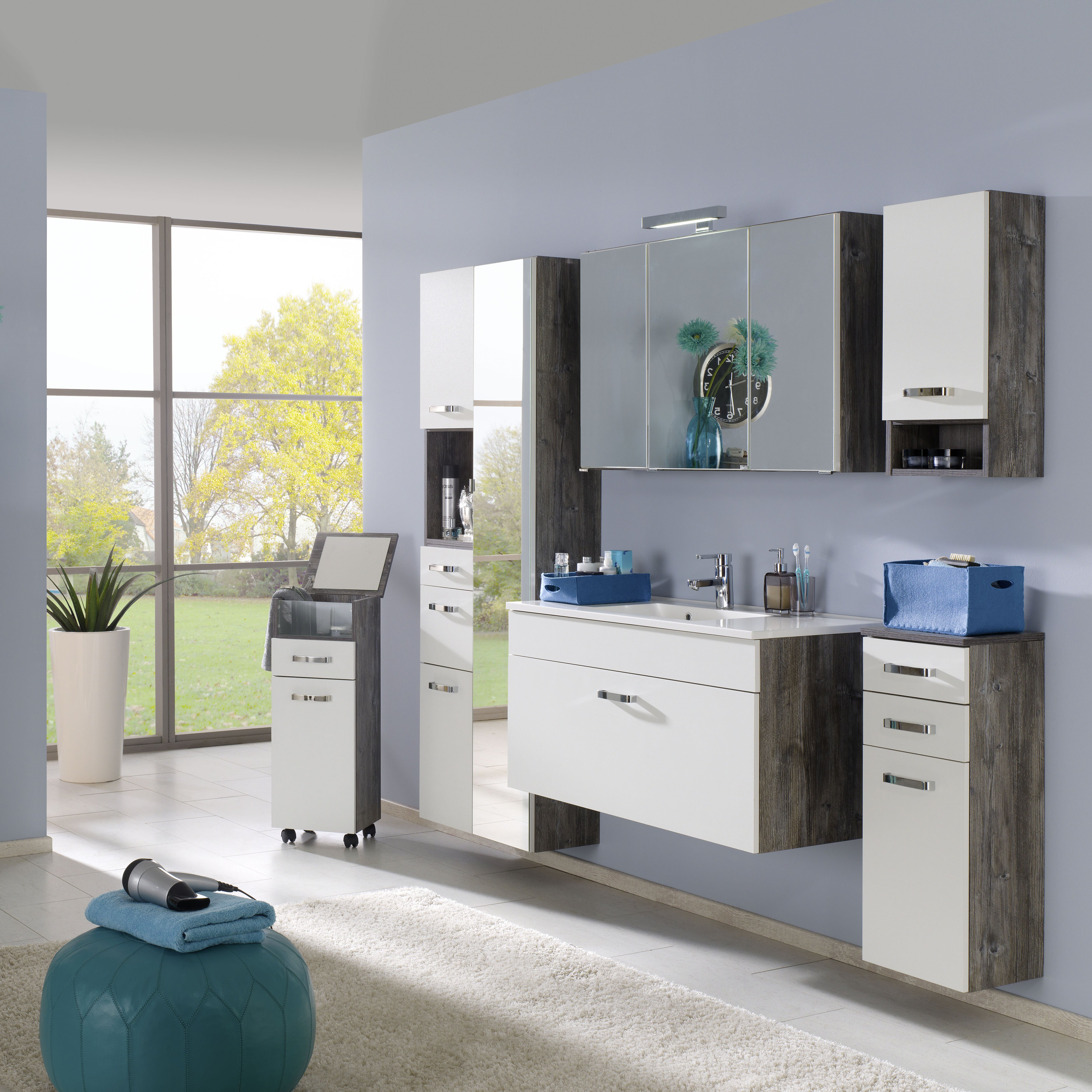 held m bel 80cm wandmontierter waschtisch capri mit. Black Bedroom Furniture Sets. Home Design Ideas