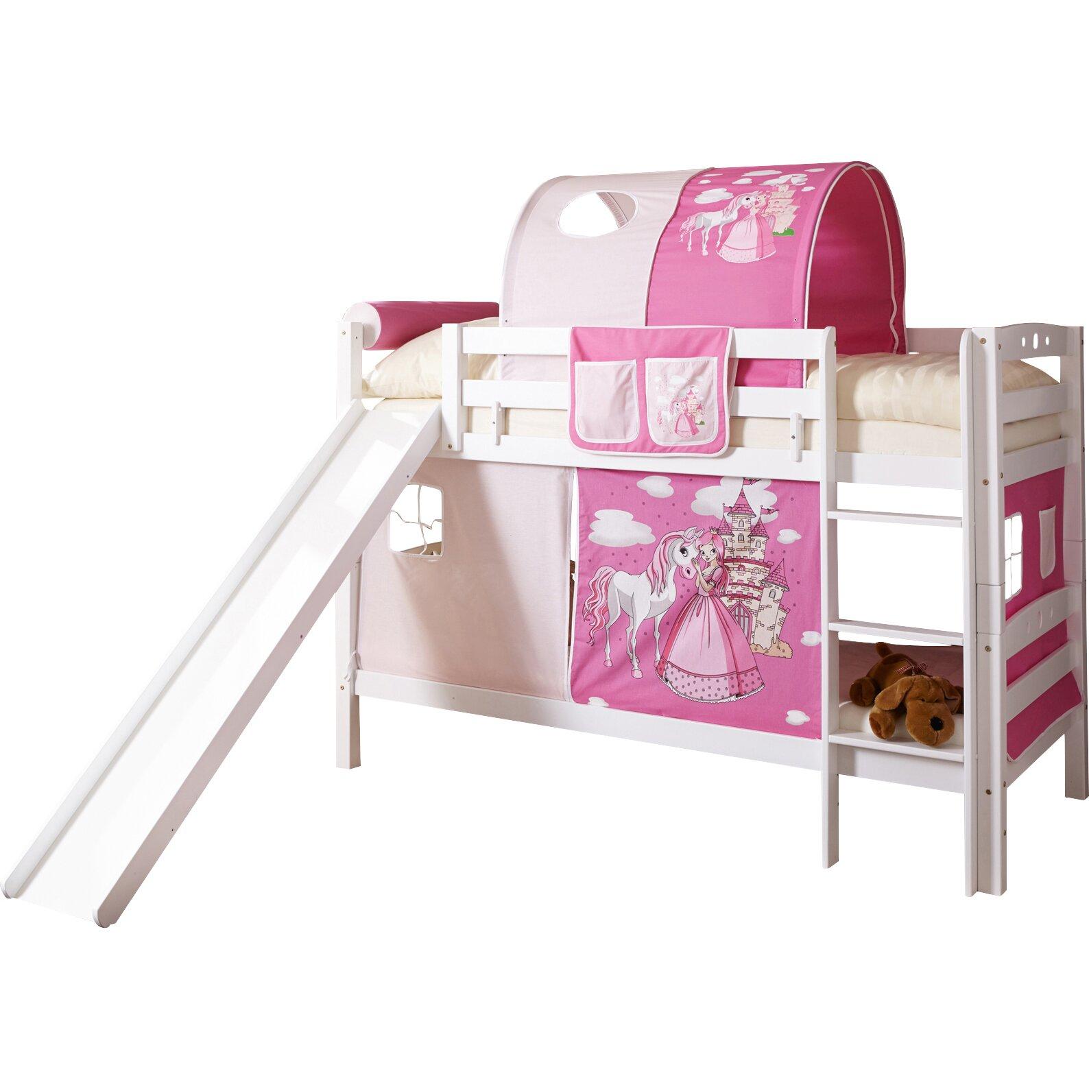 ticaa etagenbett lupo mit rutsche 90 x 200 cm reviews. Black Bedroom Furniture Sets. Home Design Ideas