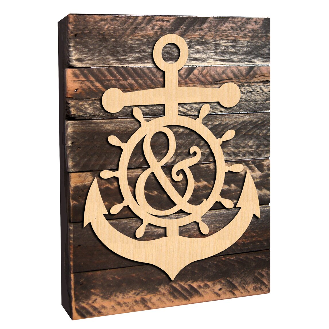 Rustic Monogram Wall Decor : Amonogramartunlimited personalized letter anchor mounted