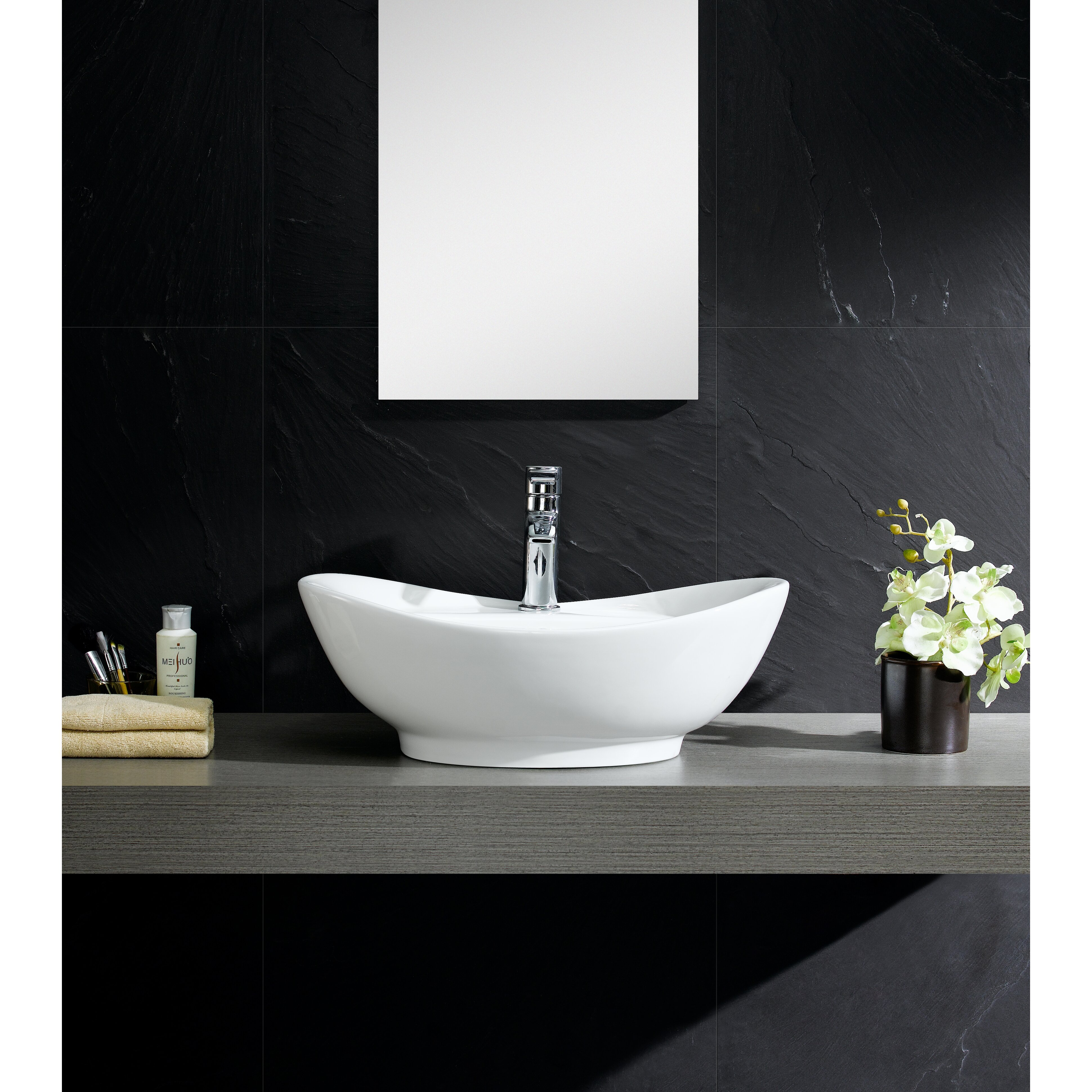 Vessel Sink Overflow : ... Vessel Sink Vessel Bathroom Sink with Overflow & Reviews Wayfair.ca