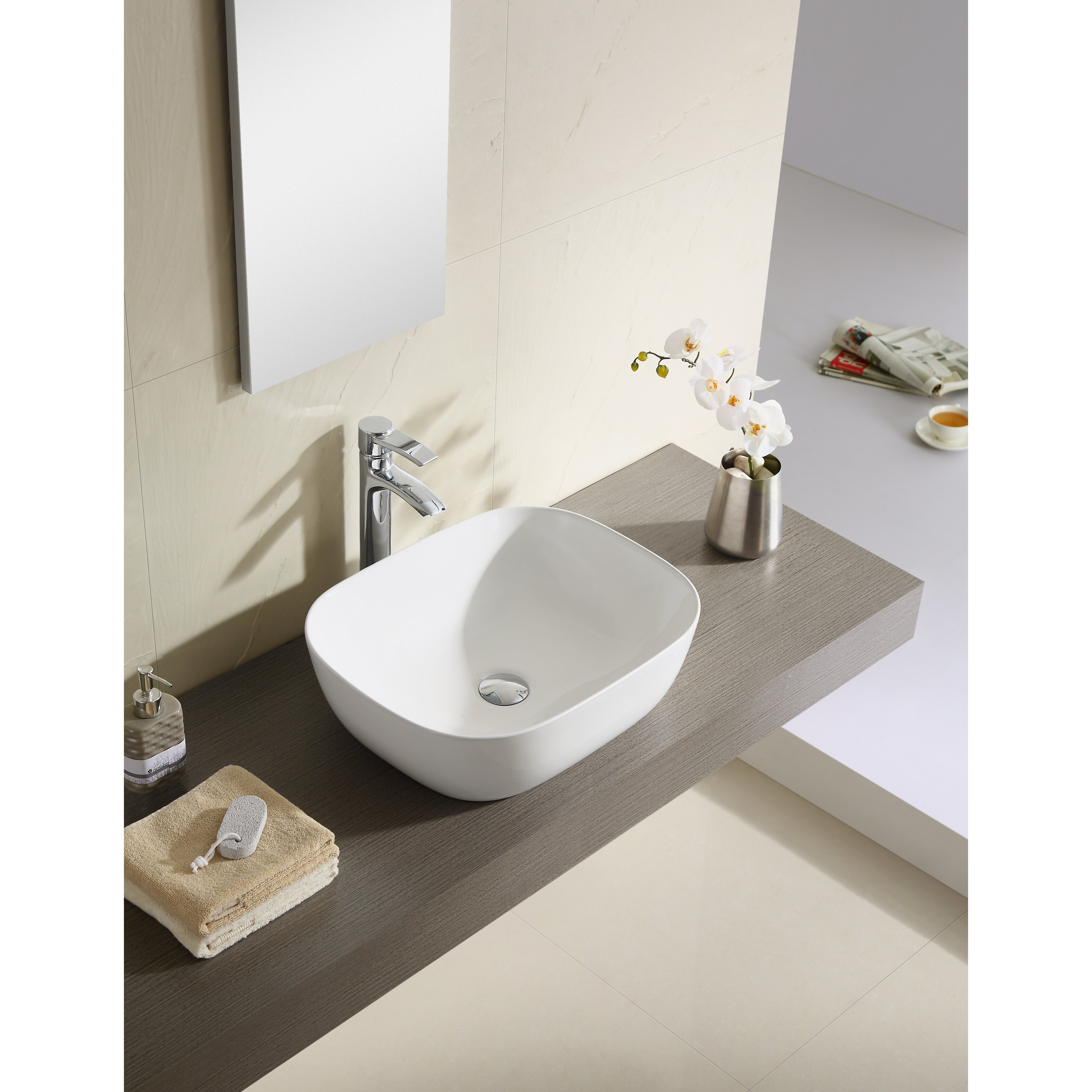 Thin Sink : Fine Fixtures Vitreous China 19