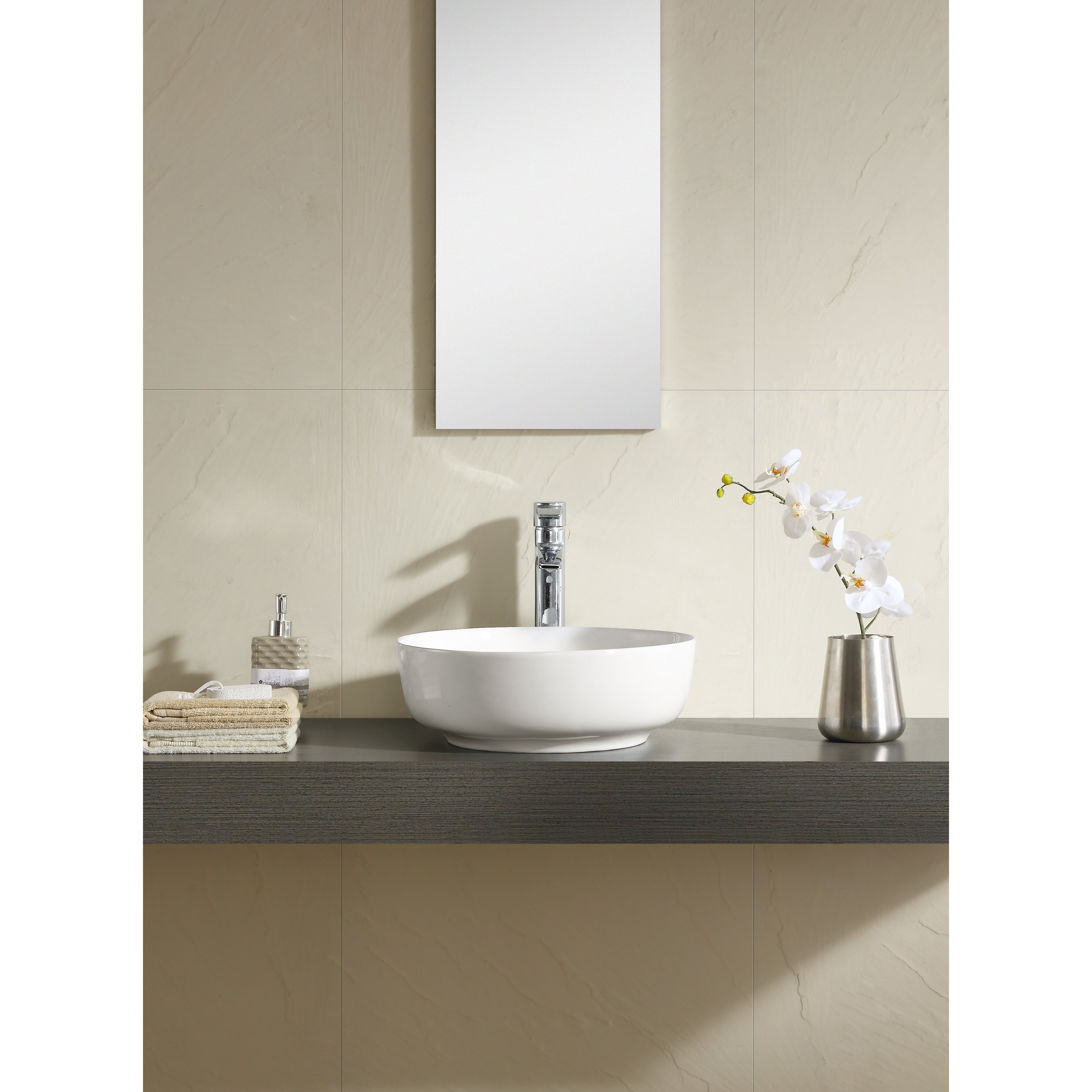 Thin Sink : Fine Fixtures Vitreous China Round Thin Edge Vessel Sink Wayfair