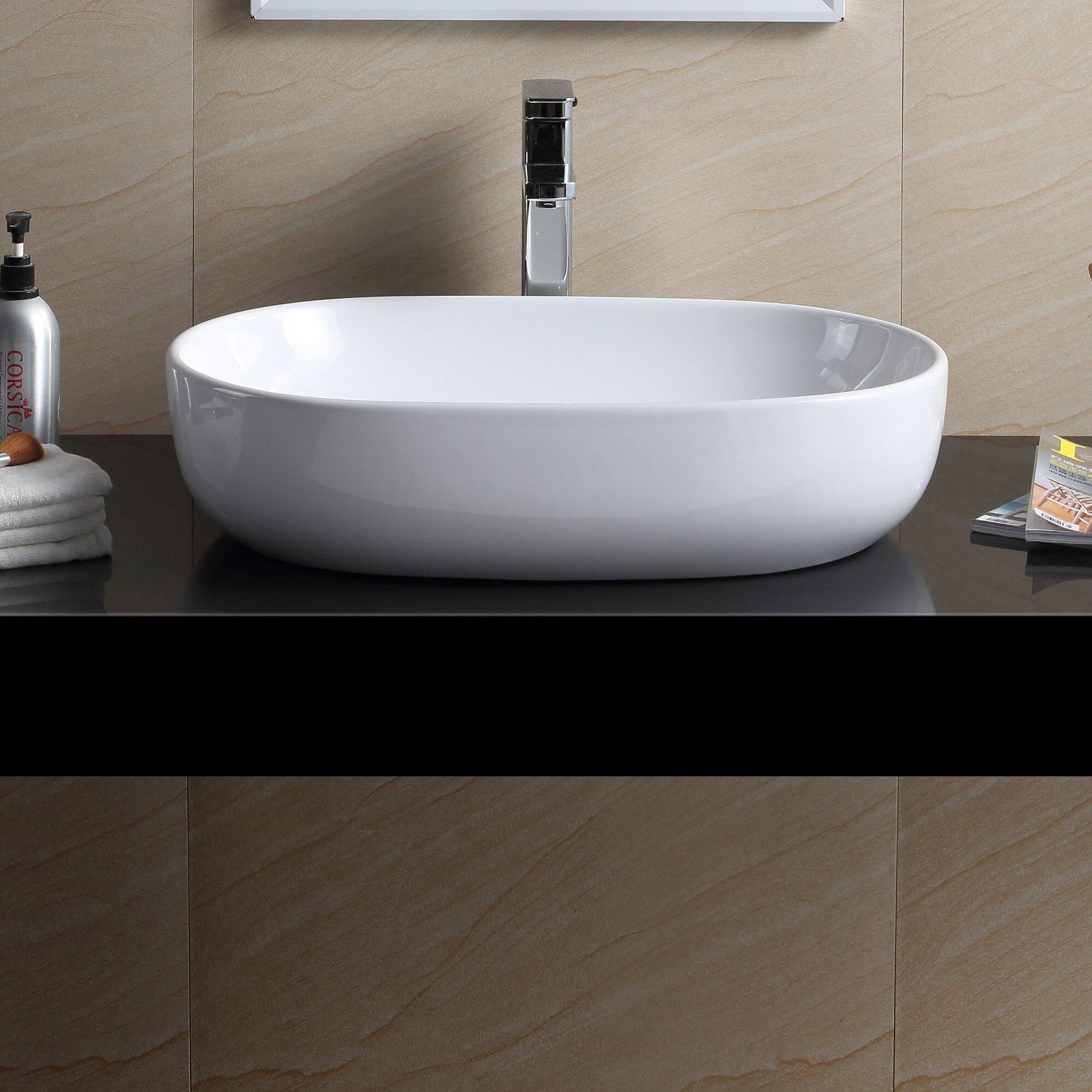 Fine Fixtures Modern Oval Bathroom Sink Wayfair