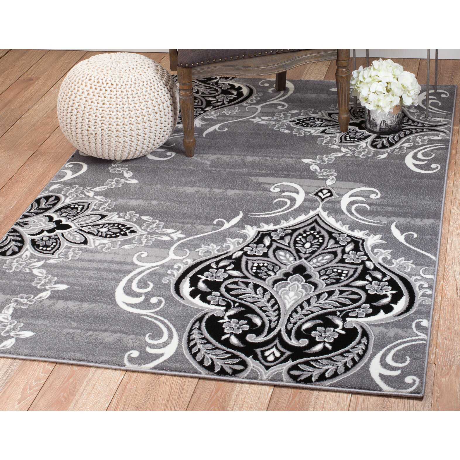 Rug And Decor Inc. Summit Gray Area Rug & Reviews